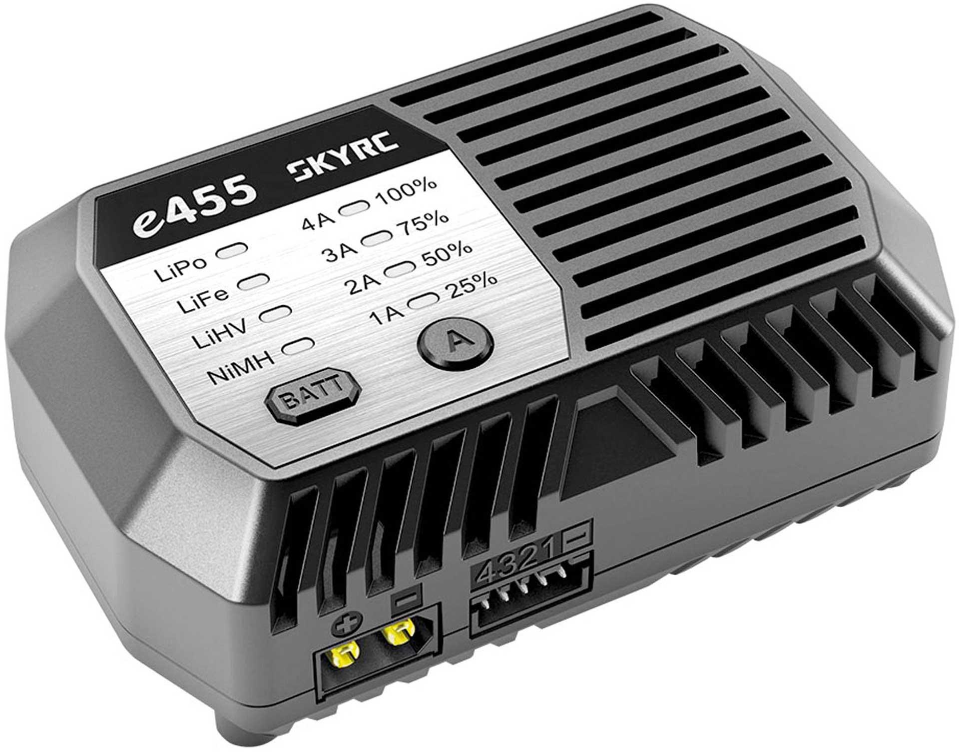 SKYRC e455 AC Charger NiMh 6-8 / LiPo 2-4s 1-4A 50W