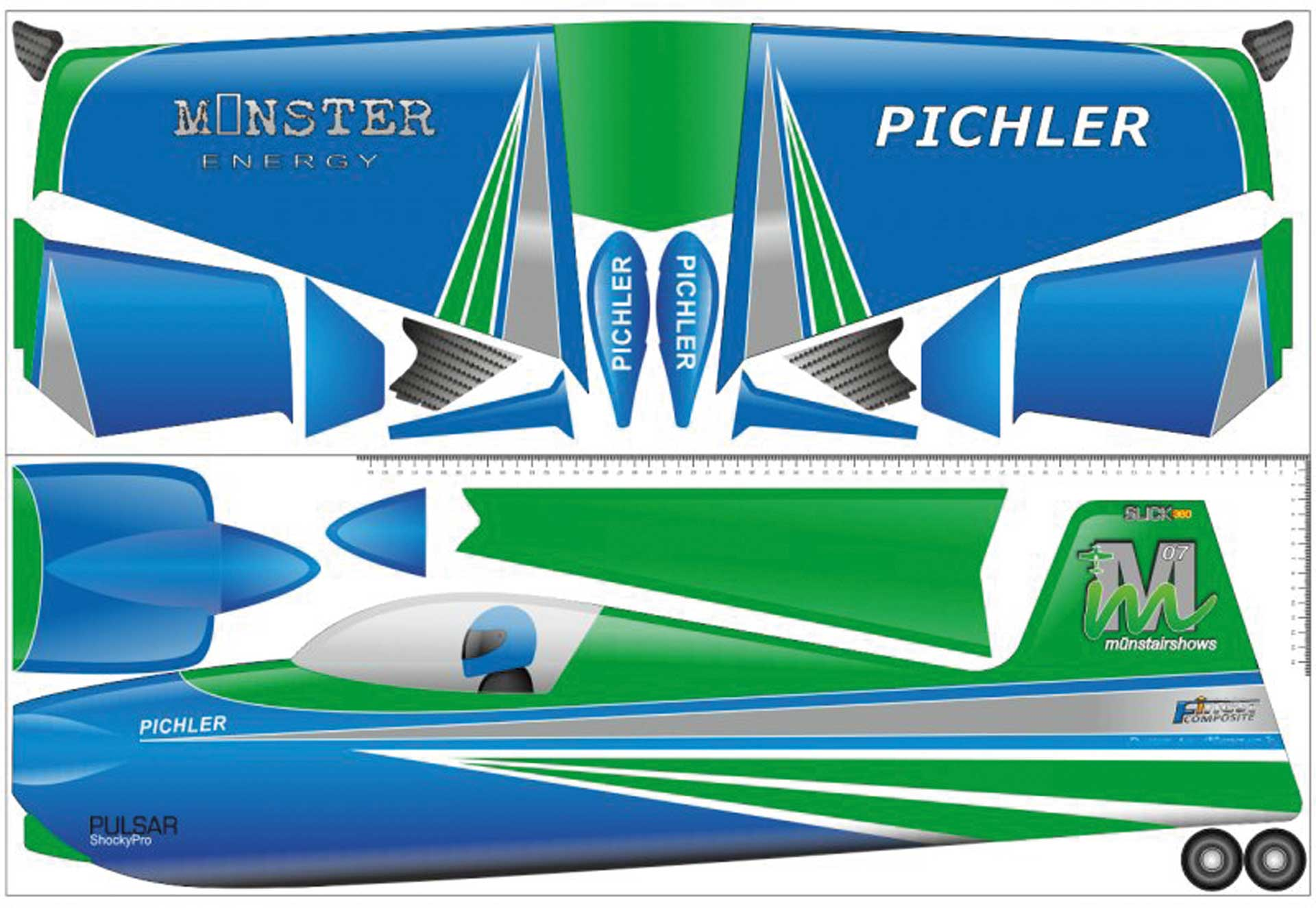 PICHLER Slick 360 (green) /840 mm made of Super board