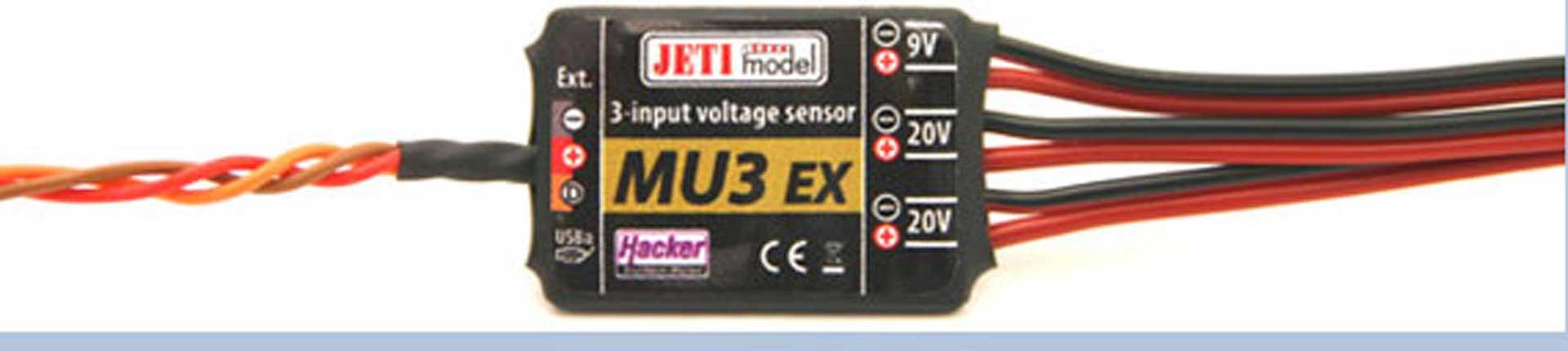 JETI DUPLEX 2.4EX MU 3 SPANNUNGS-SENSOR MIT 3