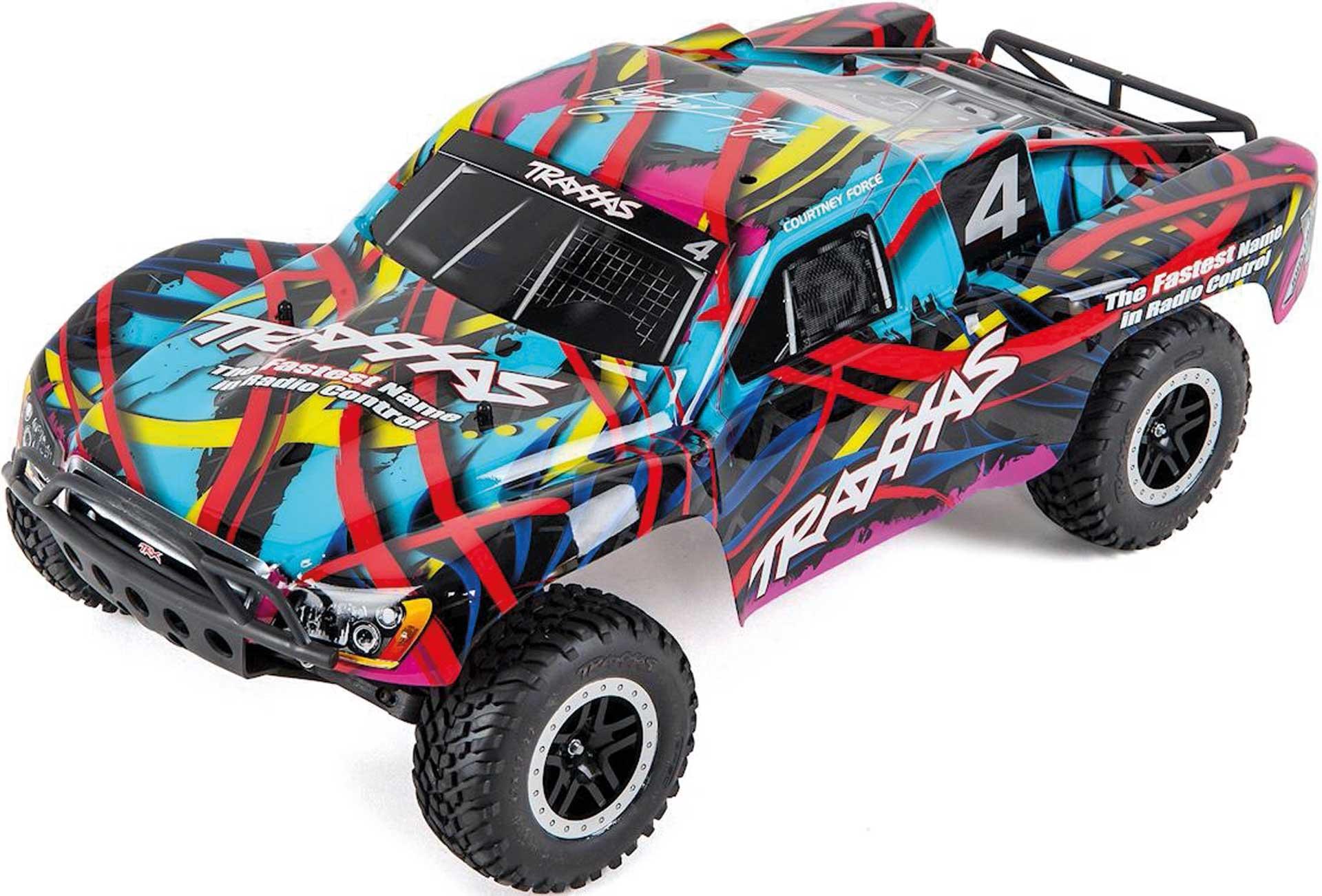 Traxxas SLASH VXL HAWAIIAN RTR OHNE AKKU/LADER 1/10 2WD SHORT COURSE RACING TRUCK BRUSHLESS