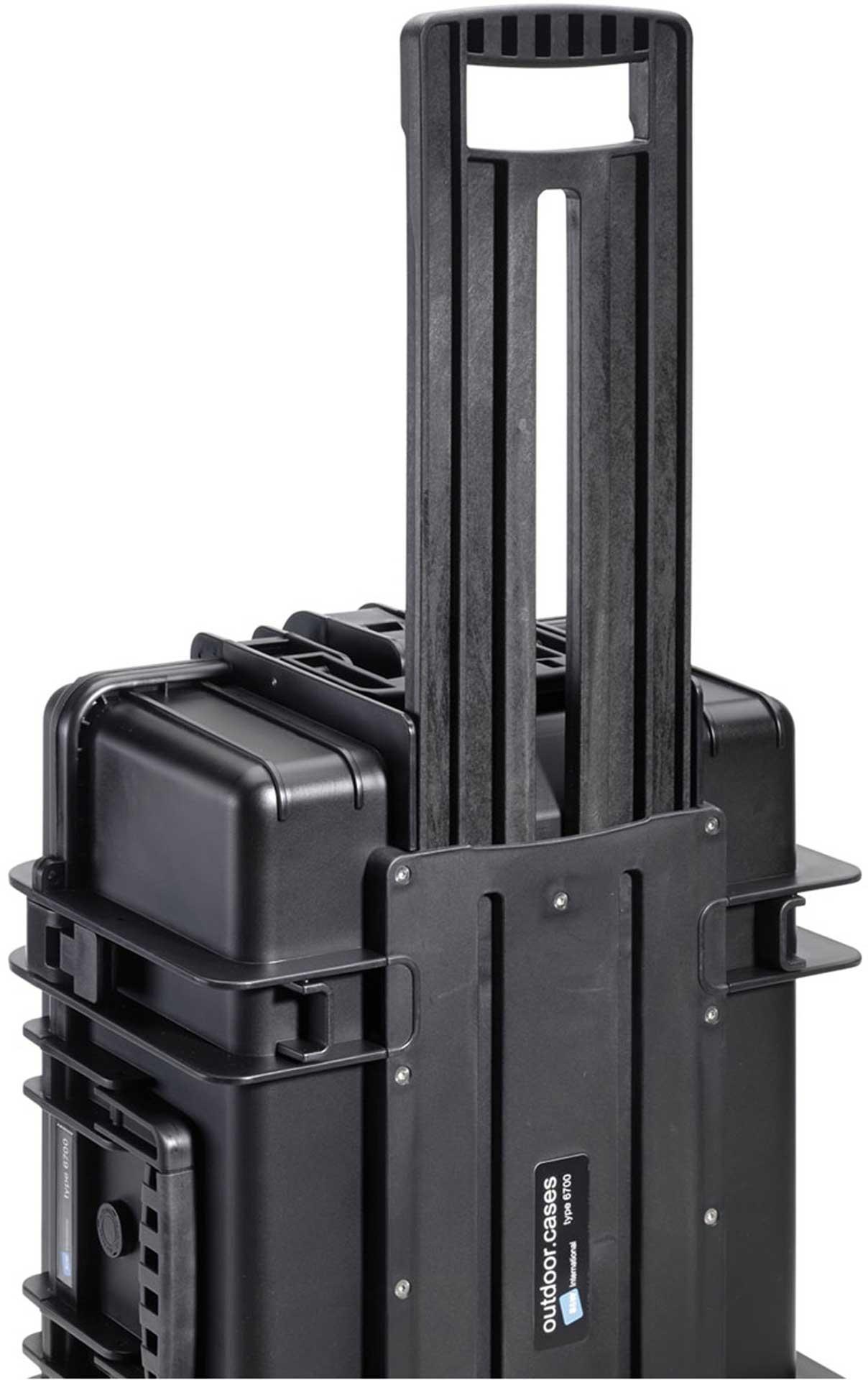 B&W INTERNATIONAL COPTER CASE PRO TROLLEY  PHANTOM 3 DROHNEN TRANSPORTKOFFER WASSERDICHT OUTDOOR CASE 6700 BLACK PHANTOM 3 ADVANCED ODER PROFESIONAL
