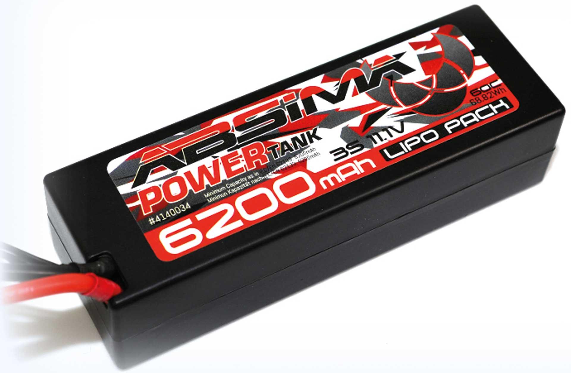 Absima Power Tank LiPo Stick Pack 11,1V 60C6200mah Hardcase (T Plug)