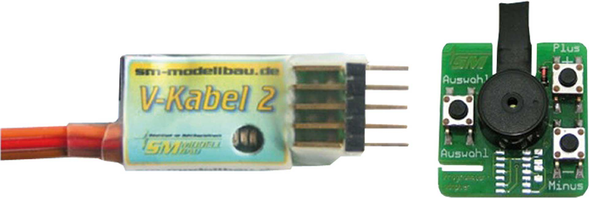 SM-Modellbau V-KABEL 2 M.PROGRAMMIERADAPTER UNI -MO