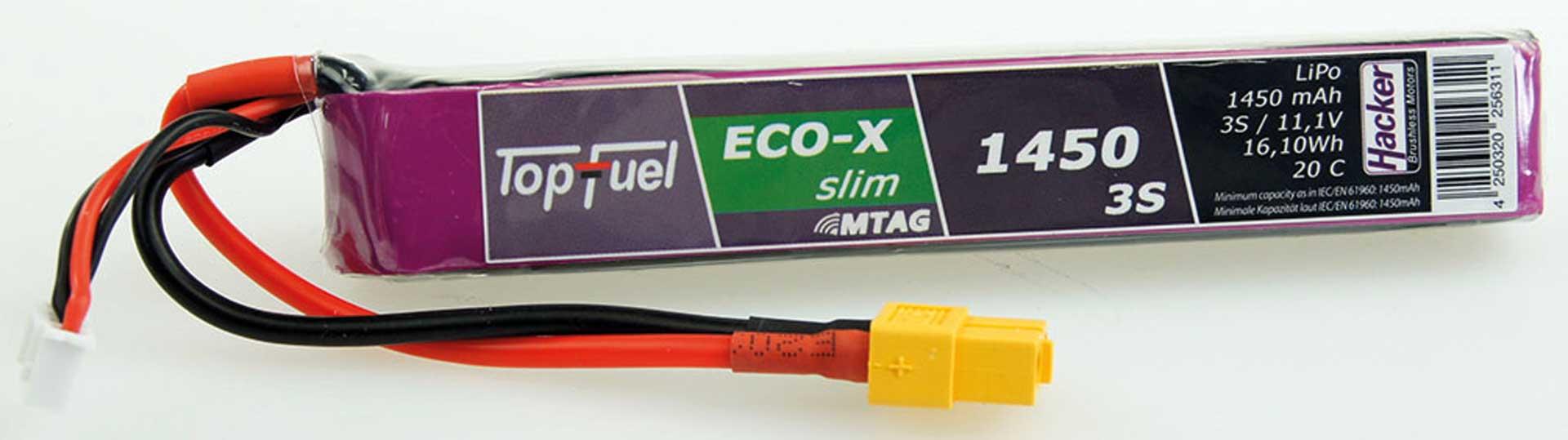 HACKER TopFuel LiPo 20C ECO-X Slim 1450mAh 3S 11,1V MTAG