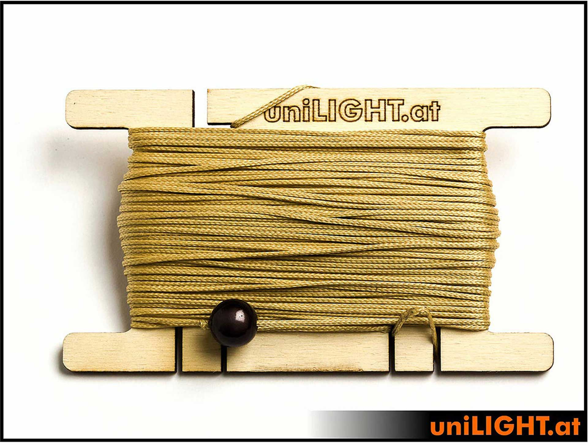 UNILIGHT ARAMID ROPE, 1.0MM, 30M, 100DAN, NATURE