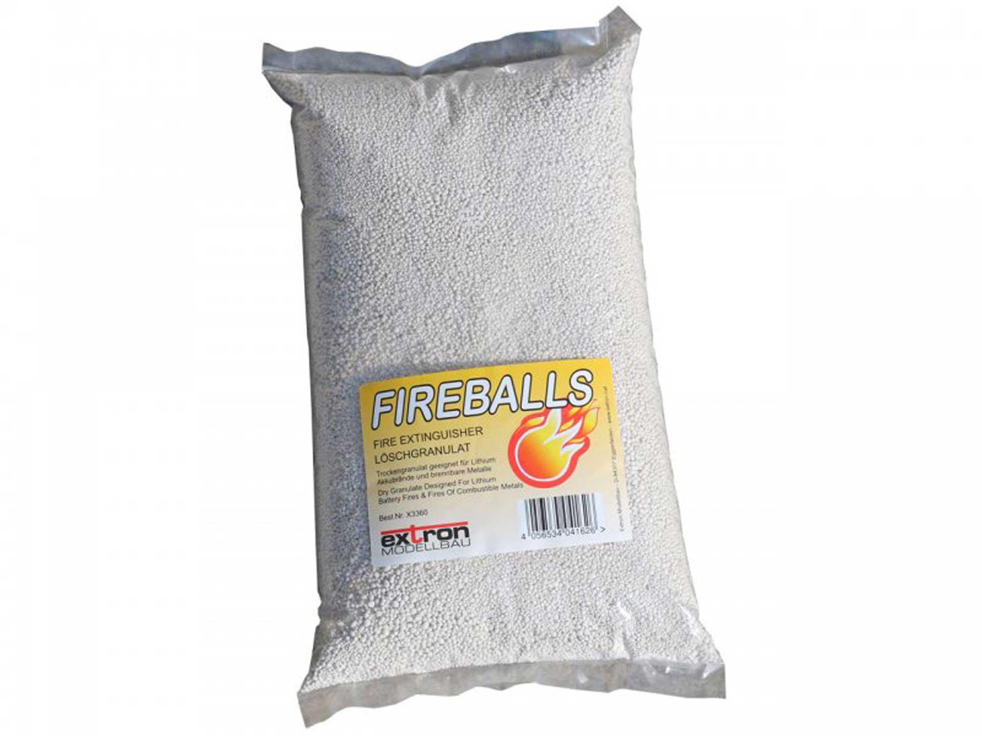 EXTRON FIREBALLS BRANDSCHUTZ FEUERLÖSCHGRANULAT 5 Liter
