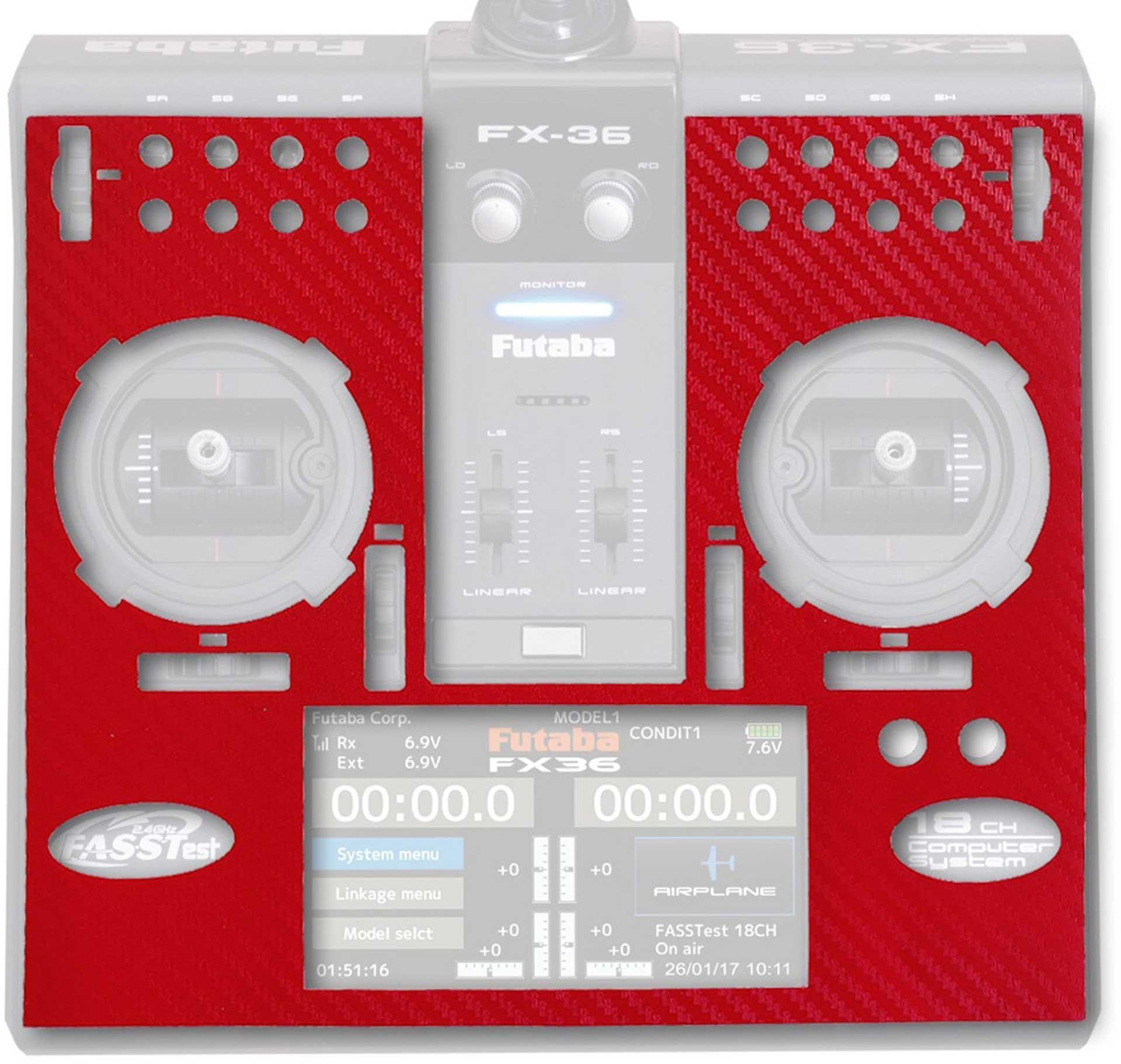 ACT FX-36 3D-Folie Carbonlook red
