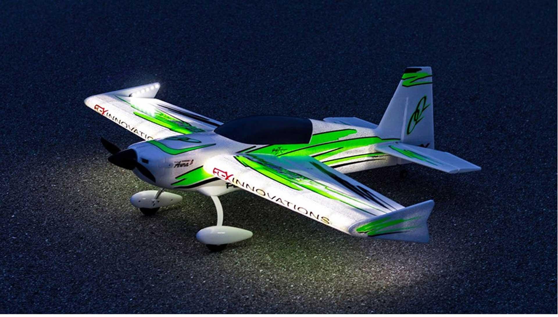 PREMIER AIRCRAFT QQ EXTRA 300 V2 NIGHT SUPER PNP AVEC LED ET AURA 8