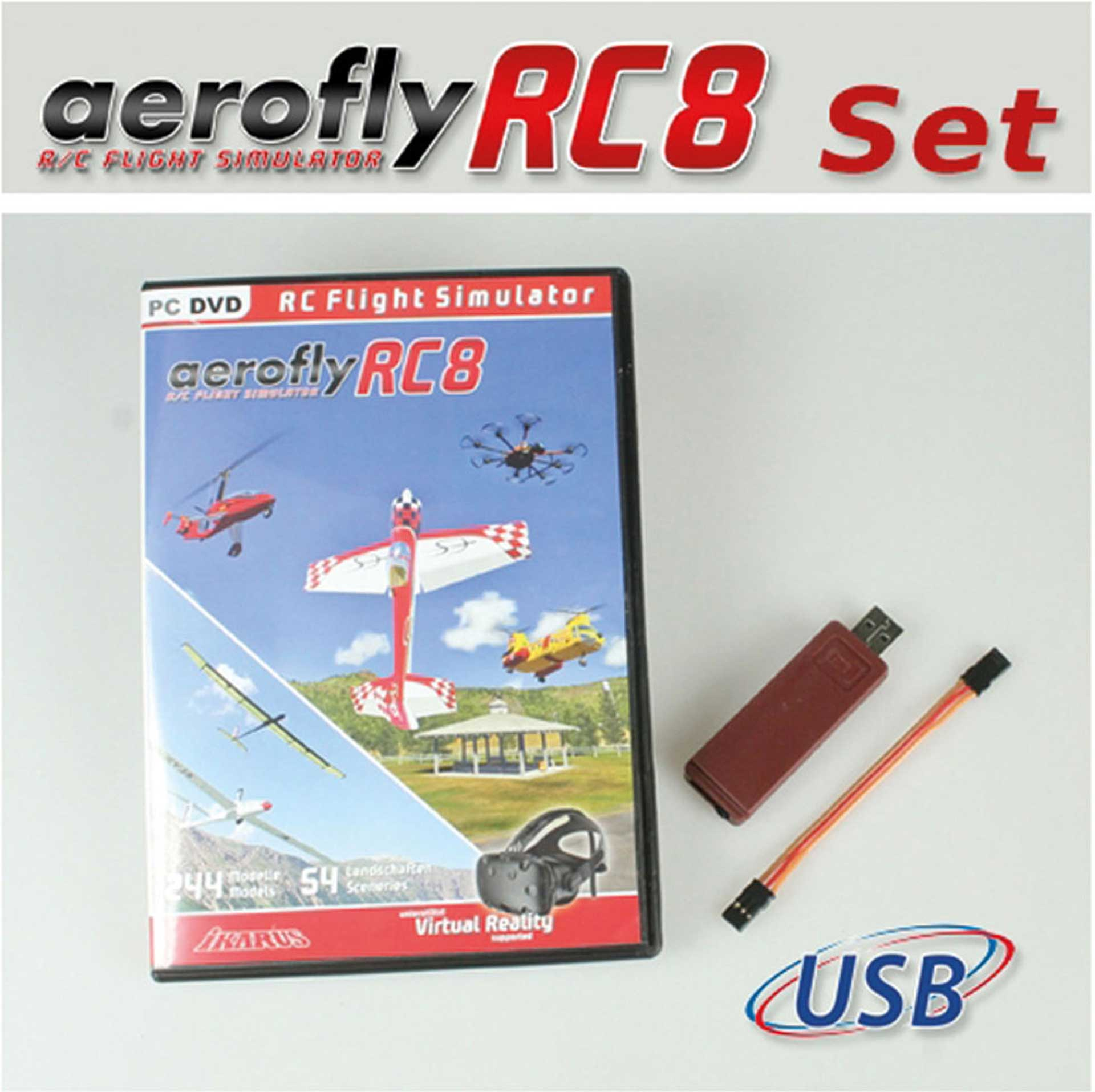 IKARUS AEROFLY RC8 WITH INTERFACE FOR GRAUPNER