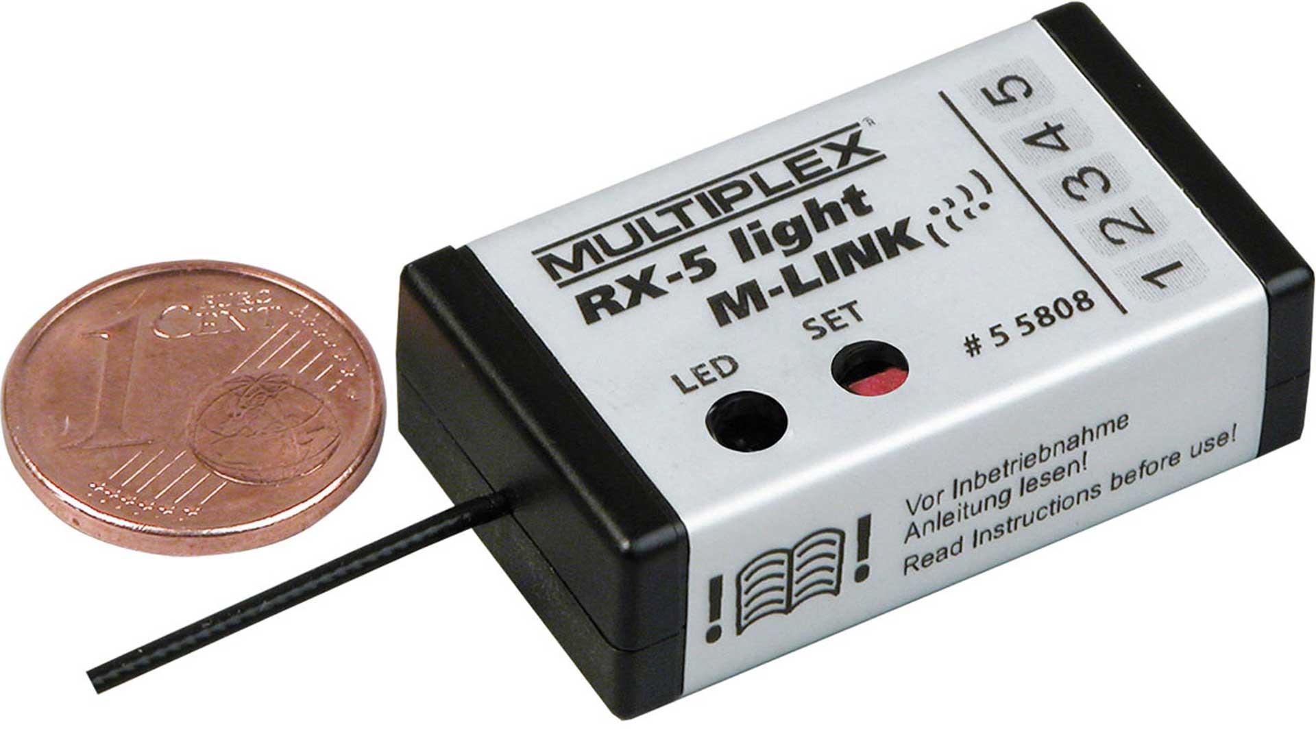 MULTIPLEX RX-5 LIGHT 2.4GHZ M-LINK RECEIVER MPX