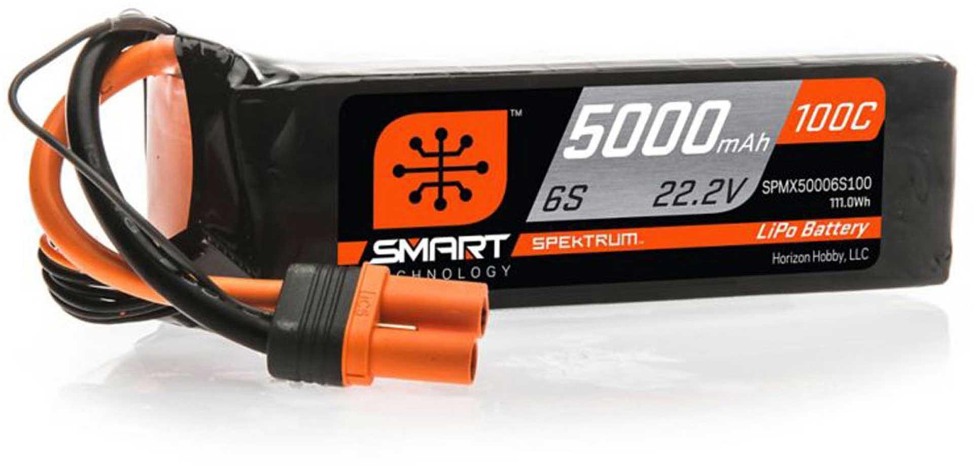 SPEKTRUM SMART LIPO BATTERY 5000MAH 22,2V 100C IC5