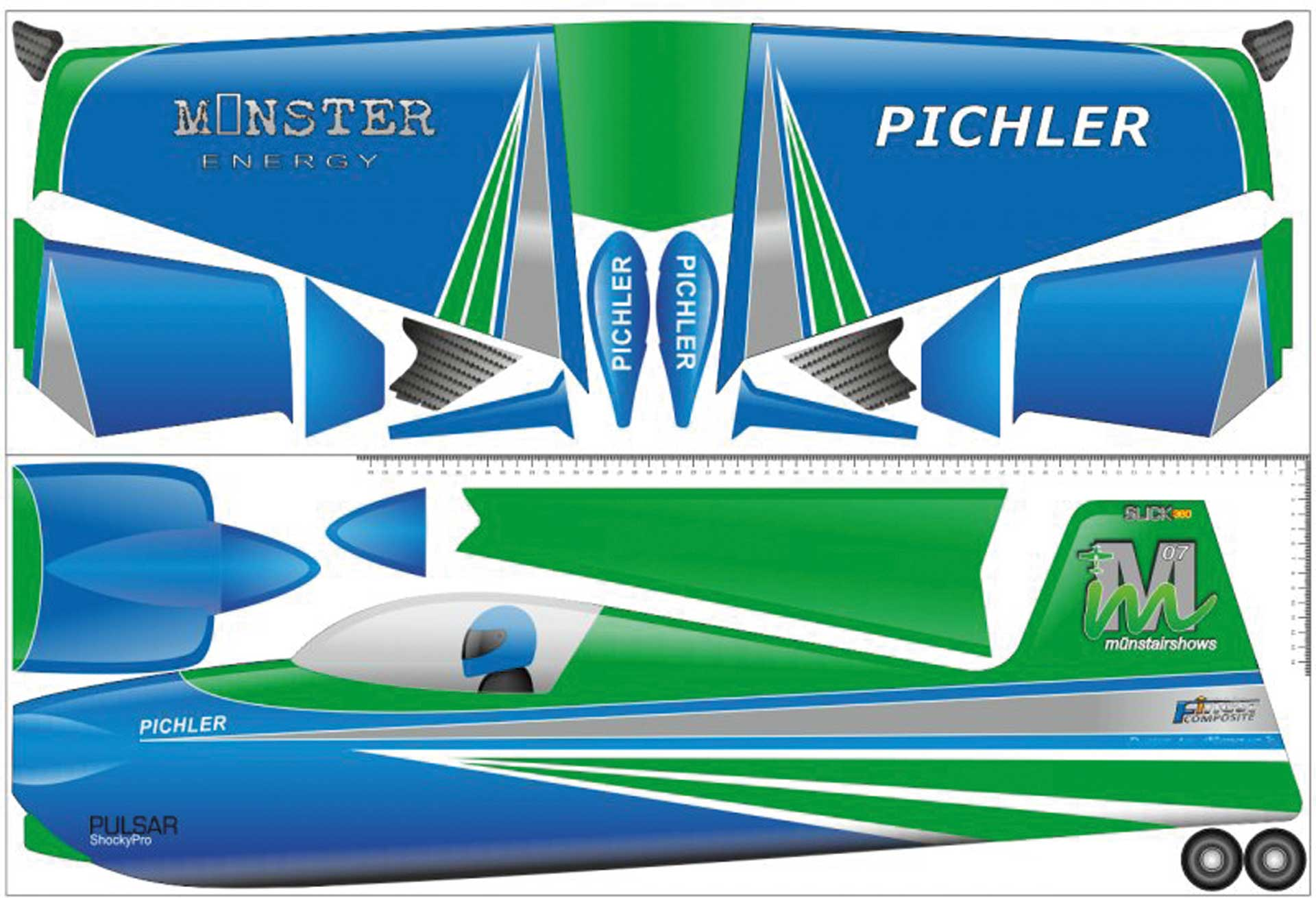 PICHLER Slick (green) Combo Set / 840mm made of Super Board