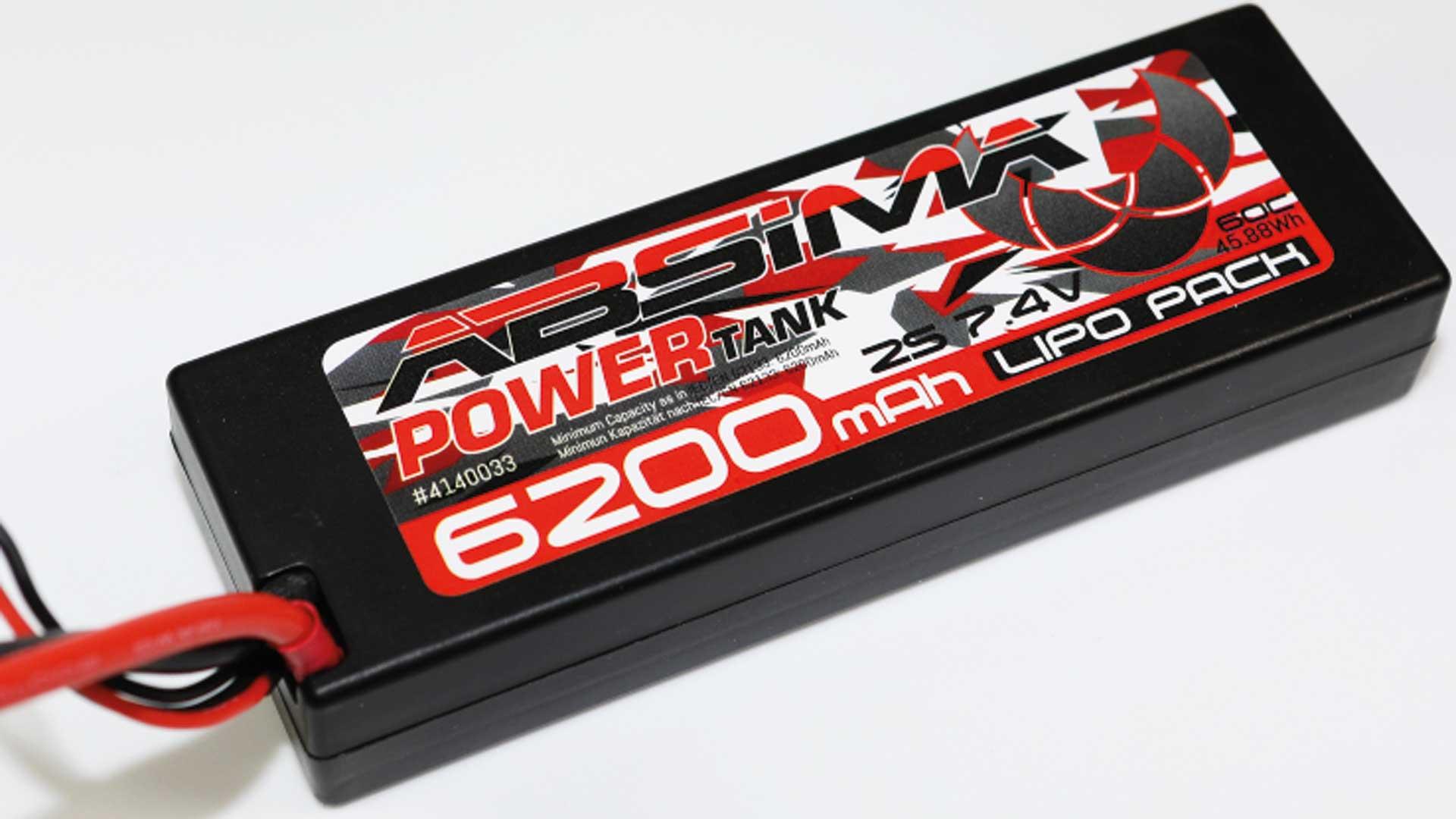 Absima Power Tank LiPo Stick Pack 7,4V 60C 6200mah Hardcase (T Plug)