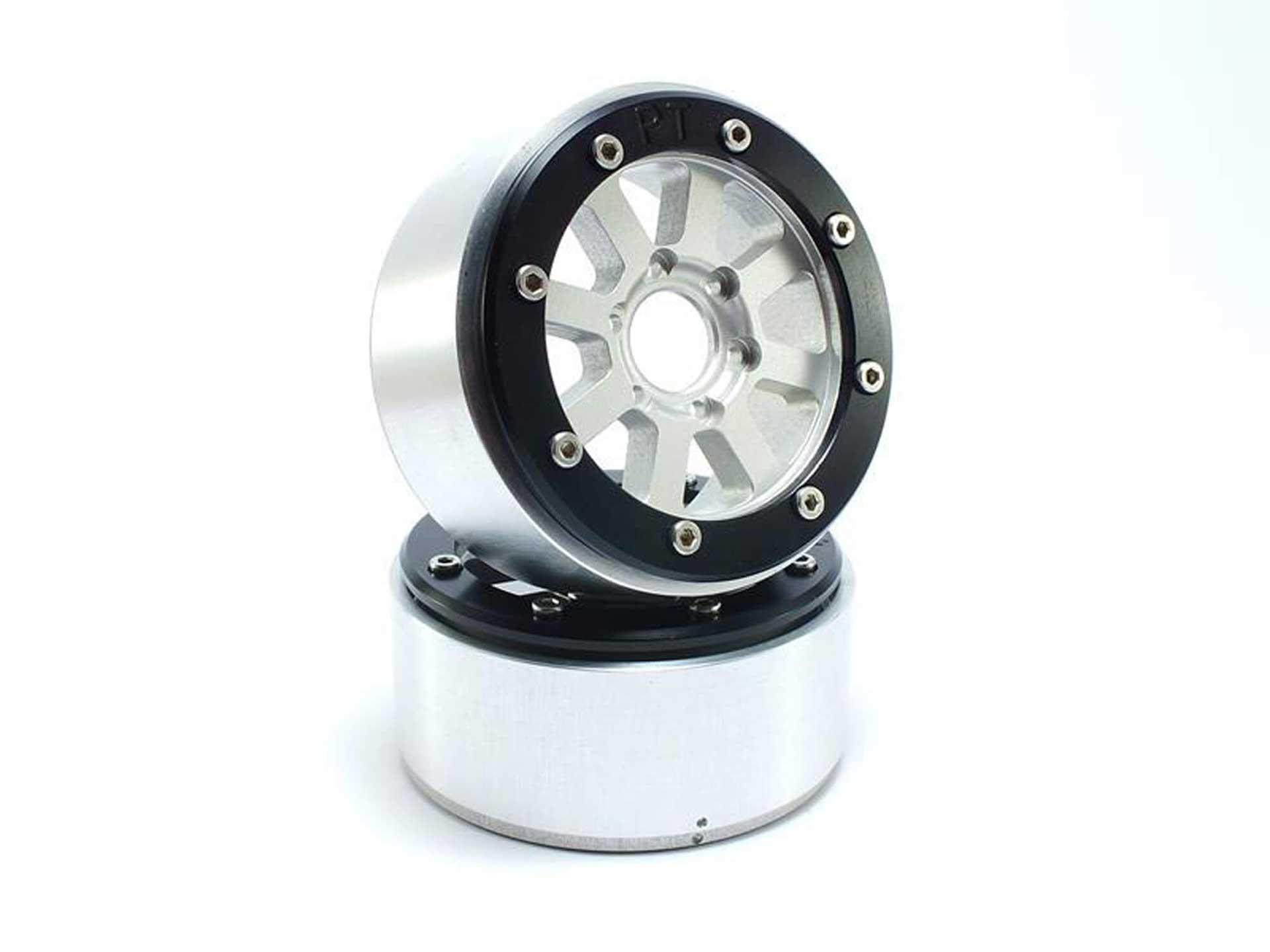Metsafil Beadlock Wheels HAMMER silber/schwarz 1.9 (2 St.) ohne Radnabe