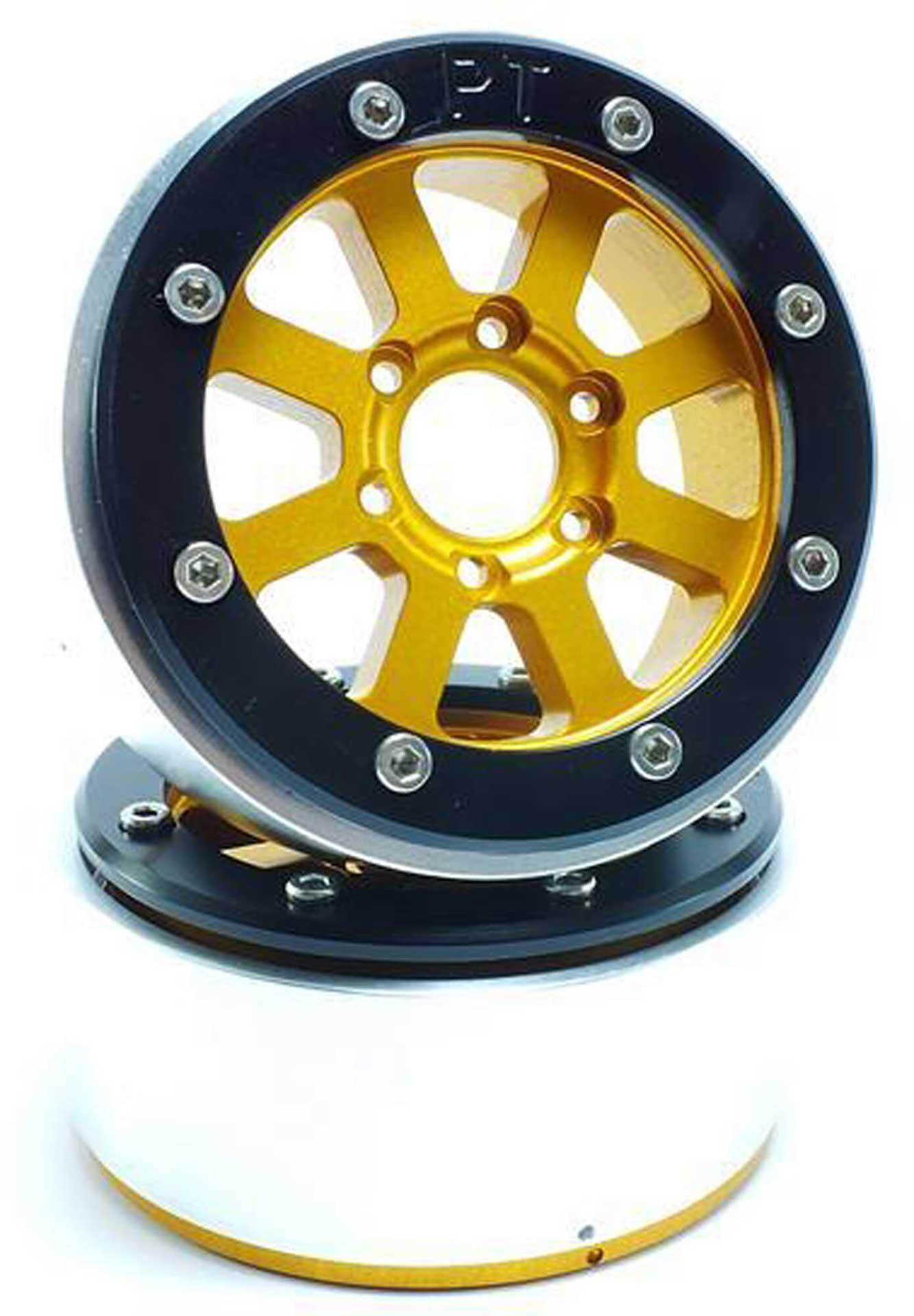 Metsafil Beadlock Wheels HAMMER gold/schwarz 1.9 (2 St.) ohne Radnabe
