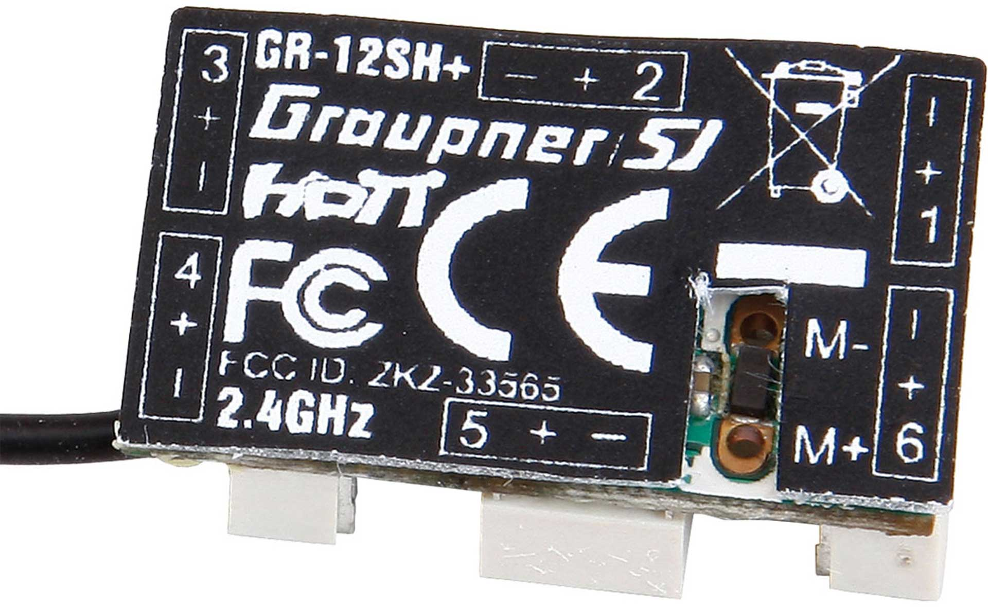GRAUPNER GR-12SH+ 2.4GHZ HOT 6K RECEIVER