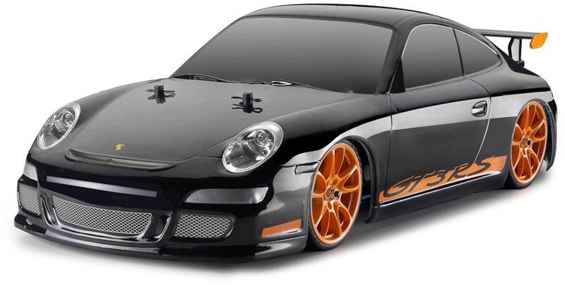 CARSON Karosserie Porsche GT3 schwarz + Dekor