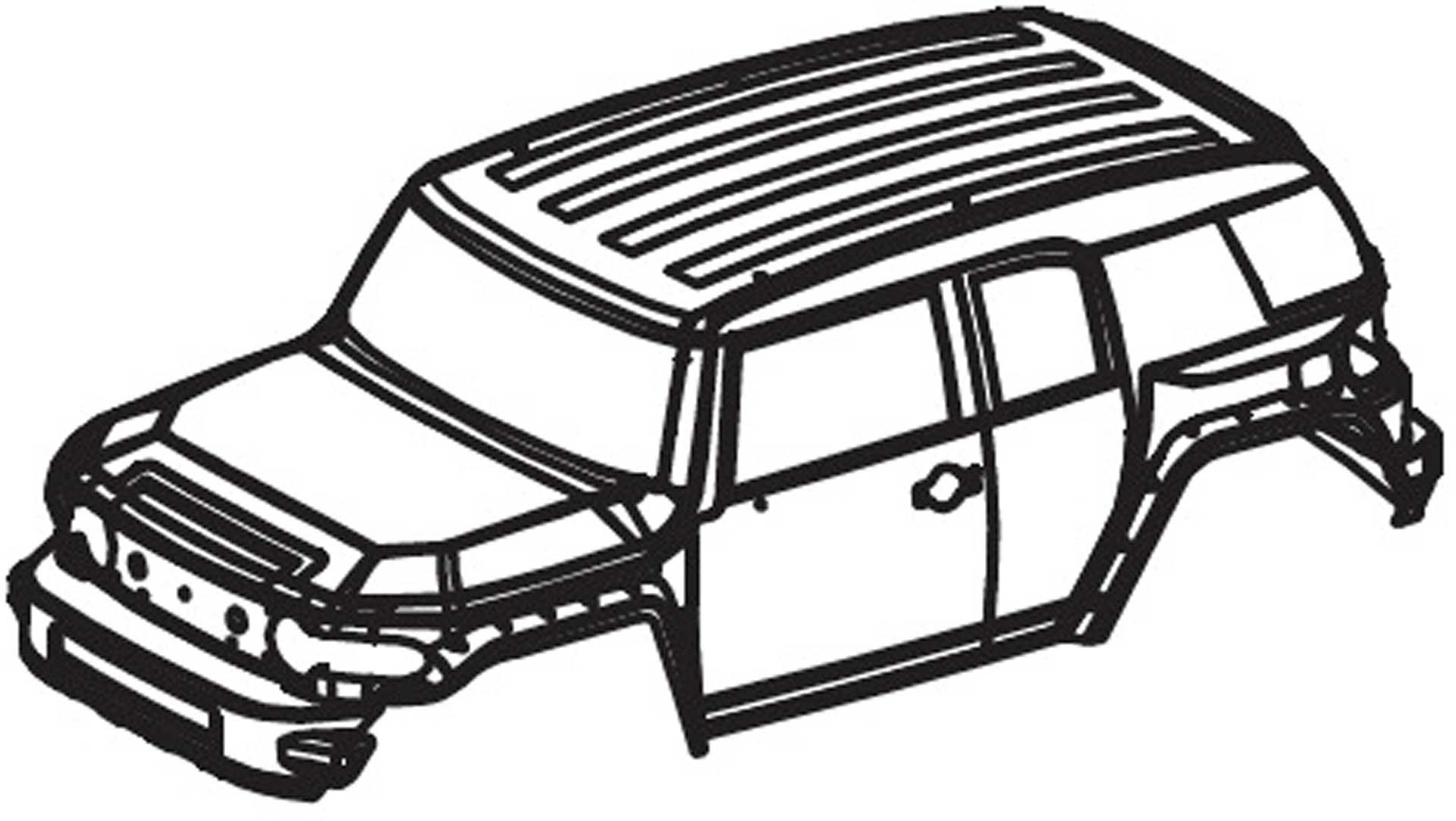Absima Karosserie PC unlackiert - Khamba