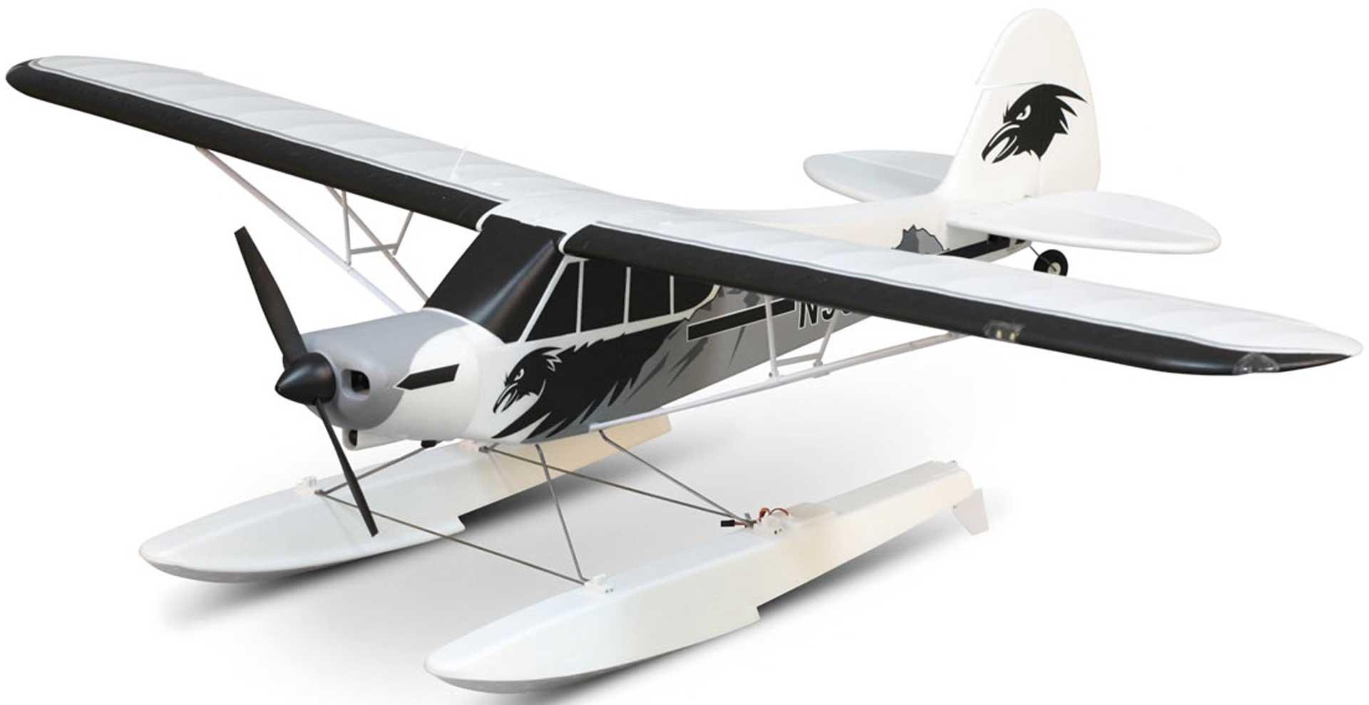 FMS Piper PA-18 Super Cub PNP + Schwimmer - 170 cm - Combo incl. Reflex Gyro System
