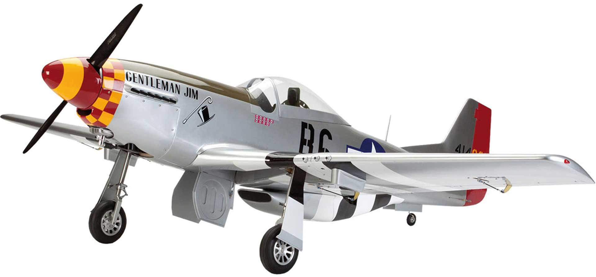 HANGAR 9 P-51D MUSTANG 60CC ARF 2,26M GEBAUTES MODELL, IN HOLZBAUWEISE