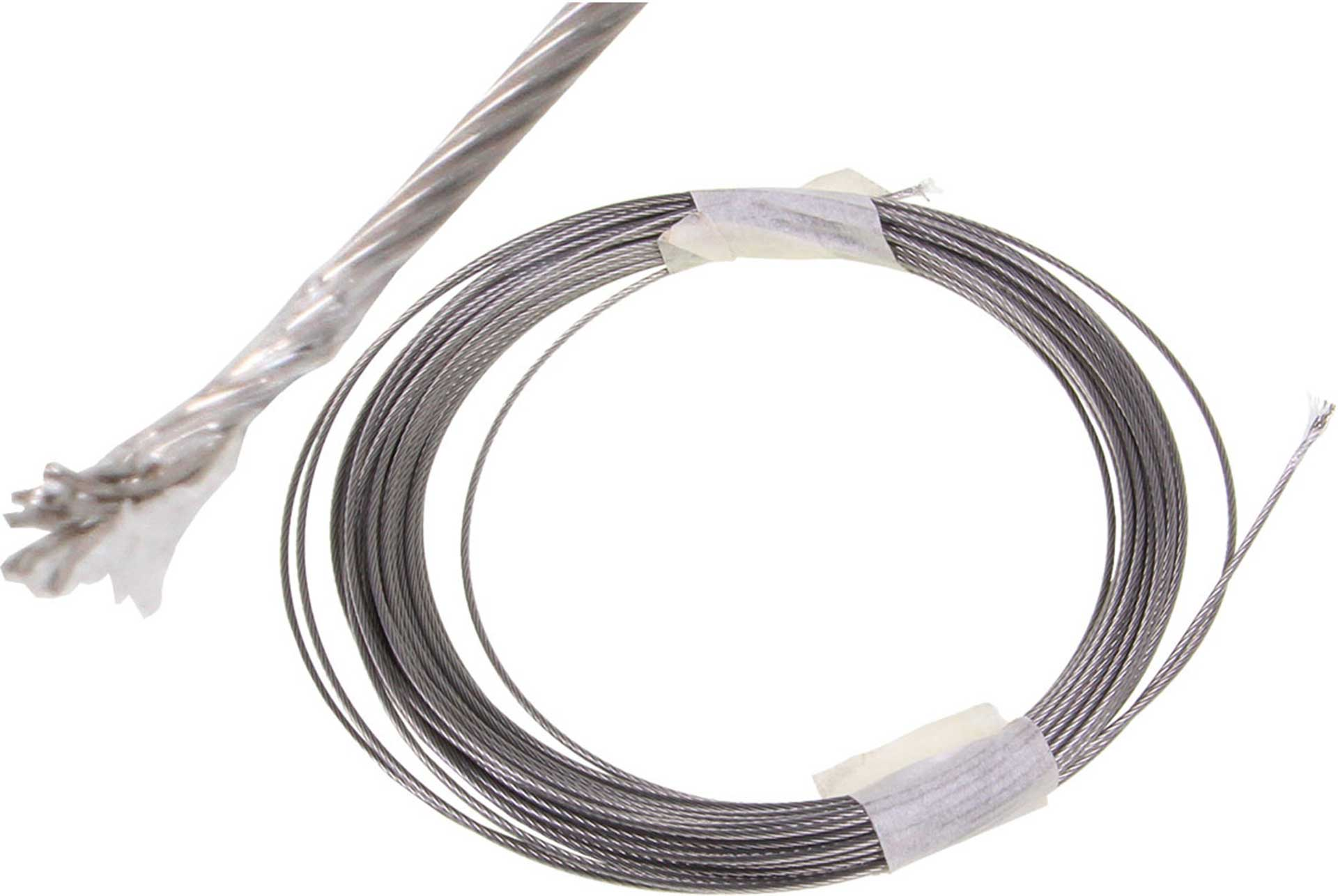 MODELLBAU LINDINGER STEEL FLEX WIRE 0,7MM NYLON COVERING 10M NATURAL, 29,2KG MAXIMUM STRENGTH