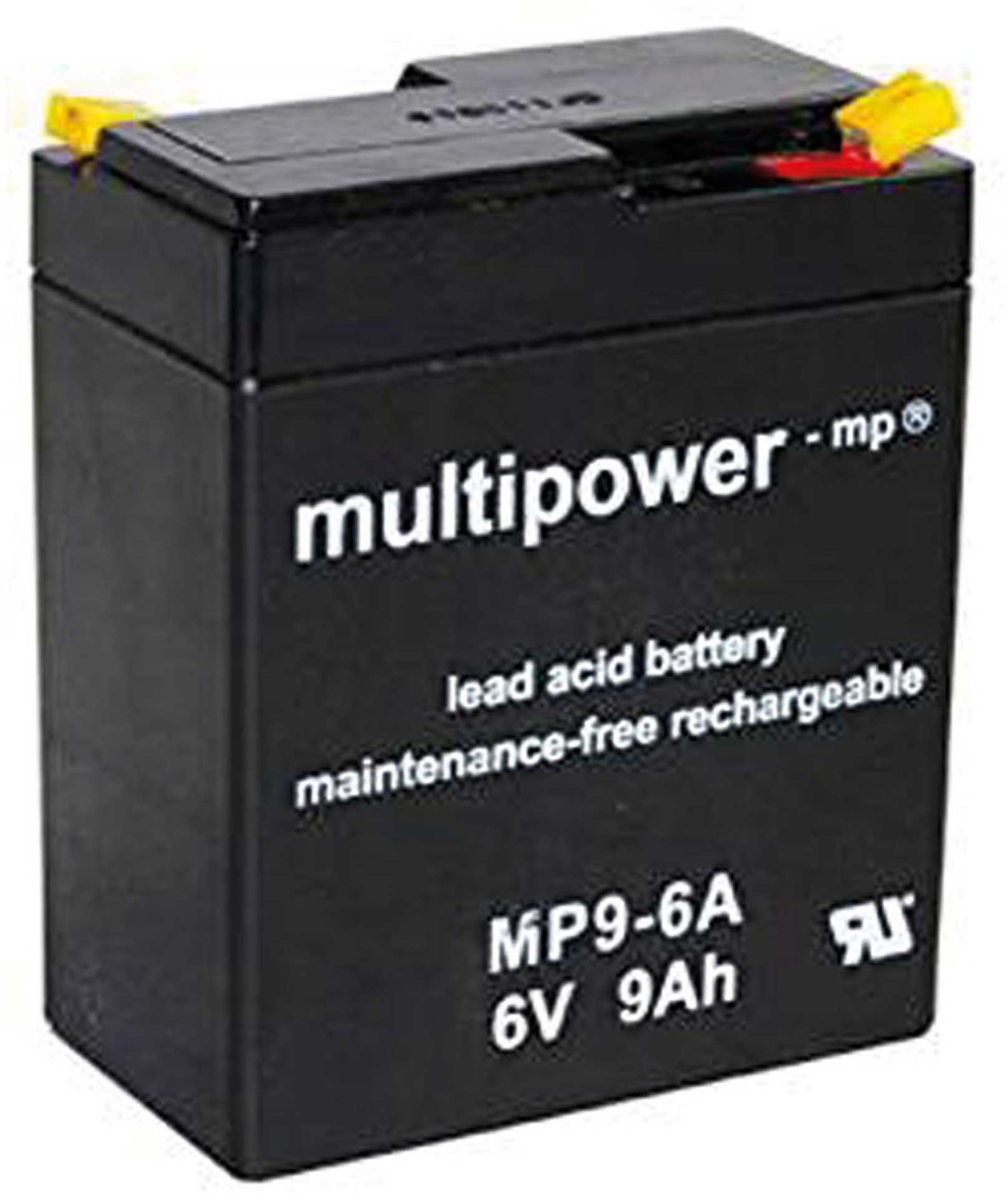MULTIPOWER LEAD BATTERY MP9-6A PB 6V / 9AH
