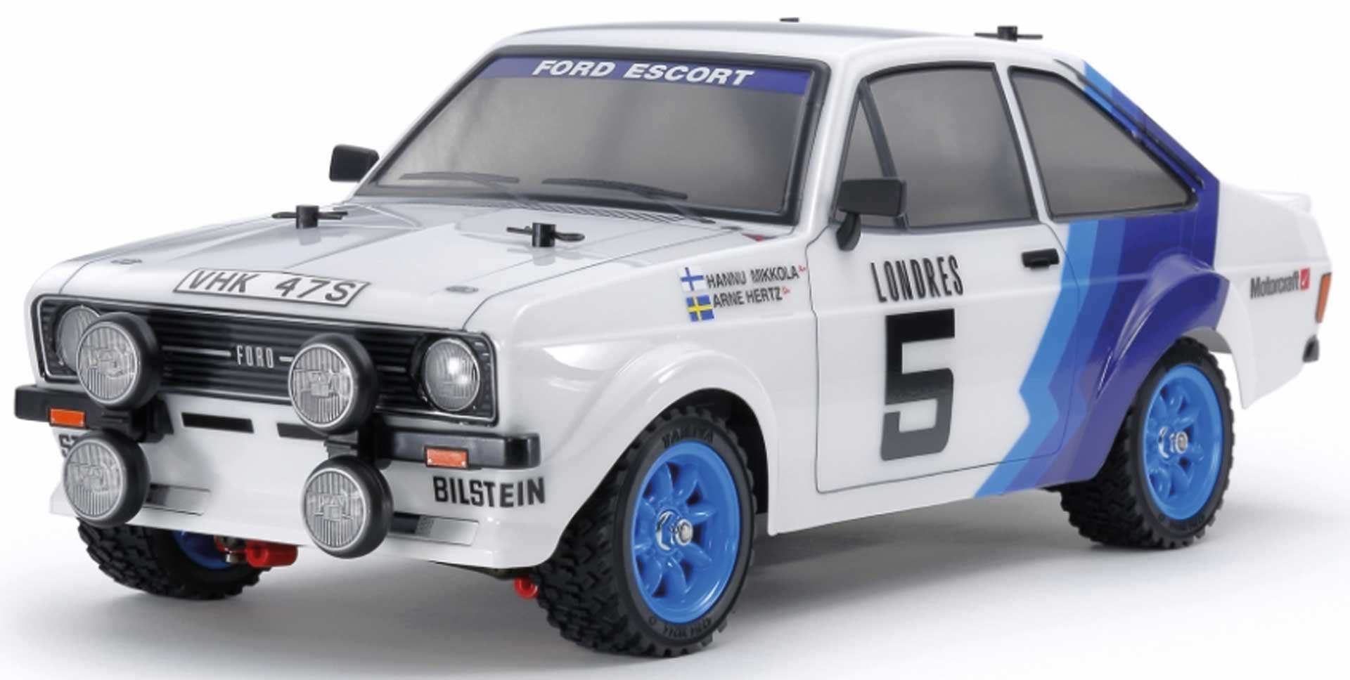 TAMIYA Ford Escort MkII Rallye MF-01X 1/10 4WD Kit (incl. painted body)