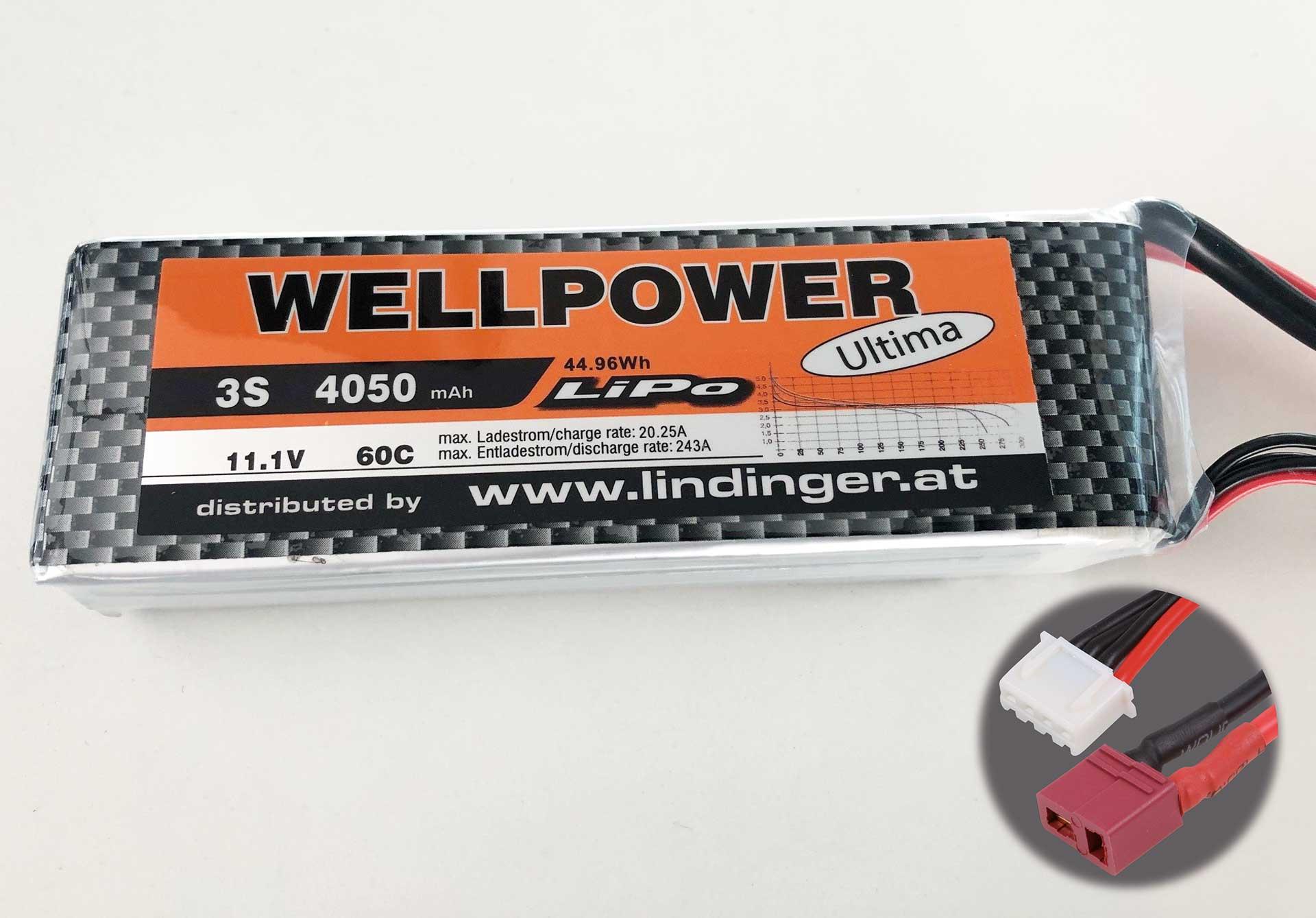 WELLPOWER LIPO AKKU ULTIMA 4050 MAH / 11,1 VOLT 3S 60/120C CH5/10