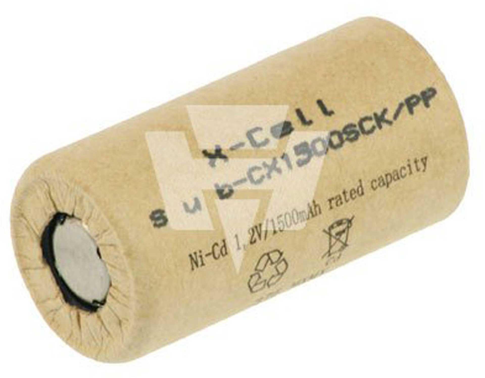 XCELL X1500SCK/PP NICD 1500MAH SUB-C
