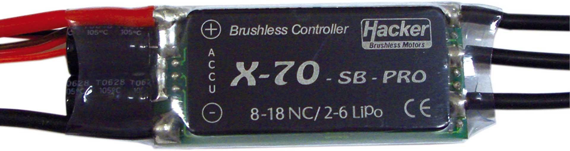 HACKER X-70 SB PRO BRUSHLESS ESC