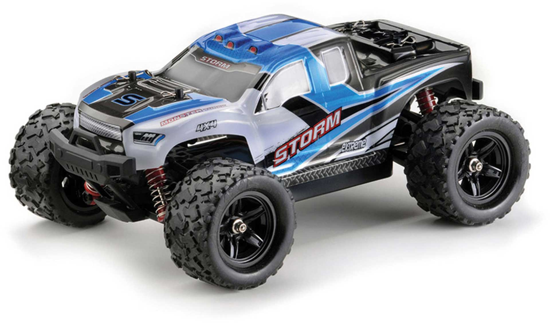 """ABSIMA HIGH SPEED MONSTER TRUCK """"STORM"""" BLAU 4WD RTR 1/18"""