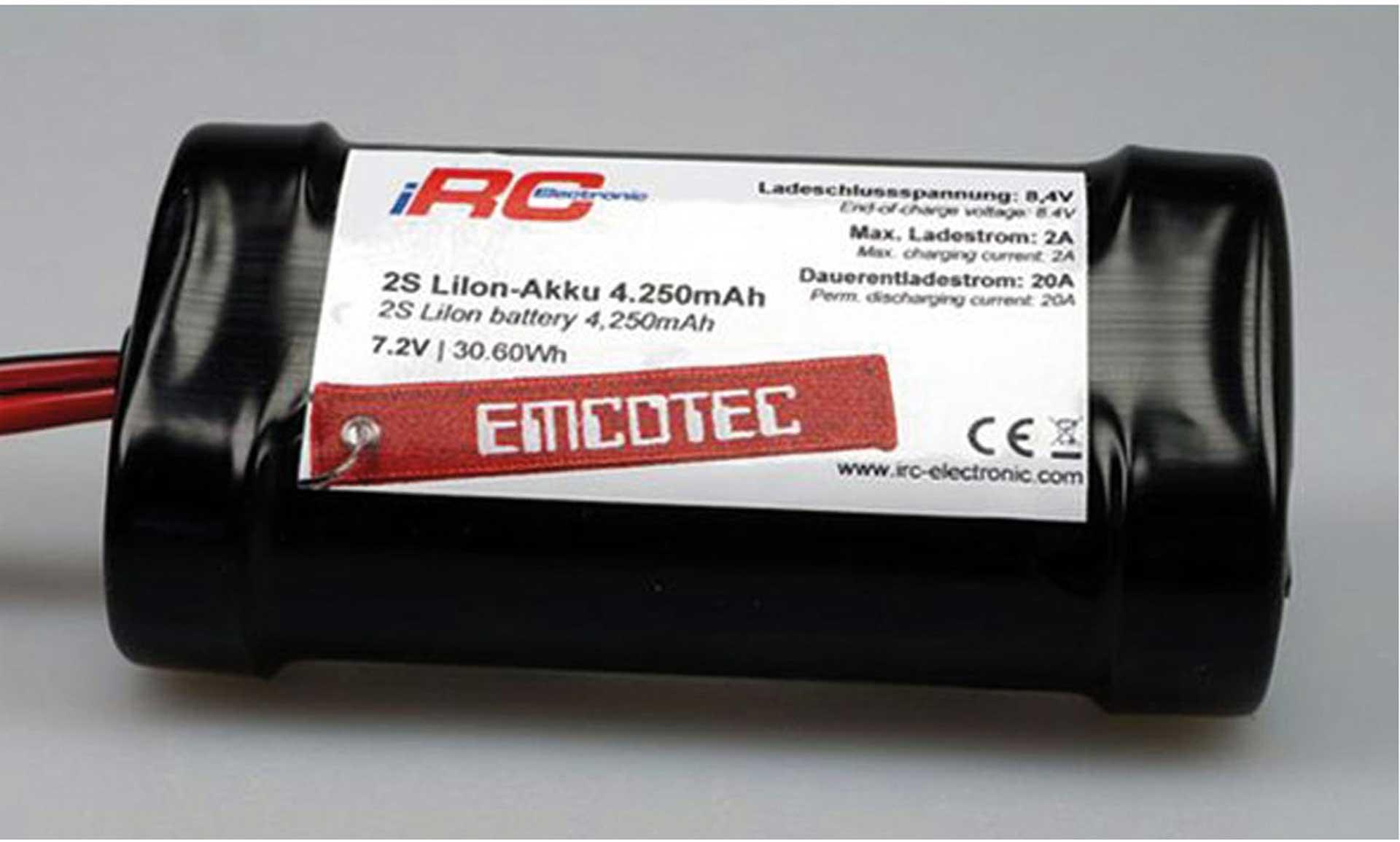 EMCOTEC E-AKKU 2S 4250MAH 7,2V MPX/JR