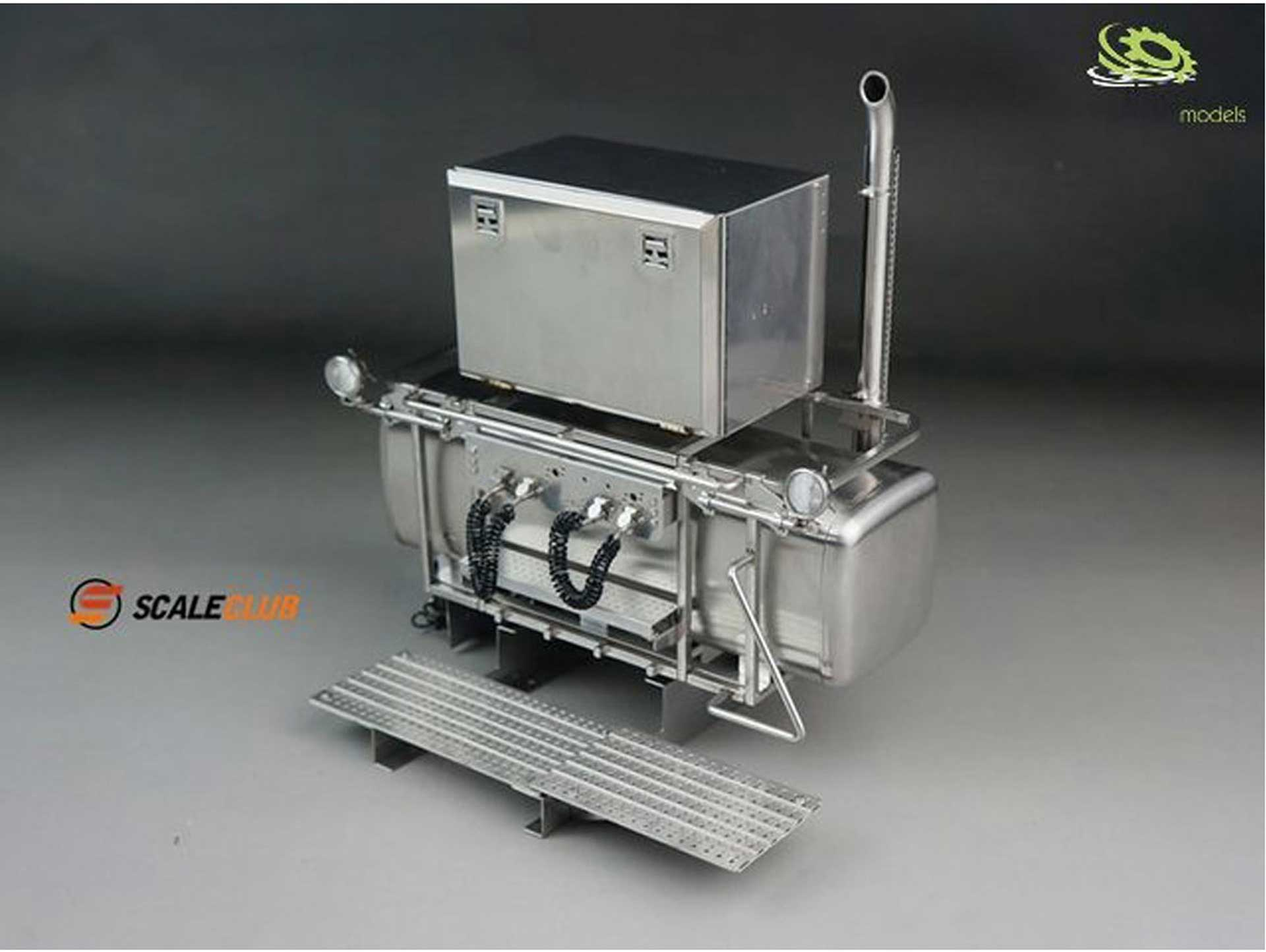 SCALE CLUB HEAVY LOAD TOWER WITH HEADLIGHTS AND BOX V2A STEEL 1/14