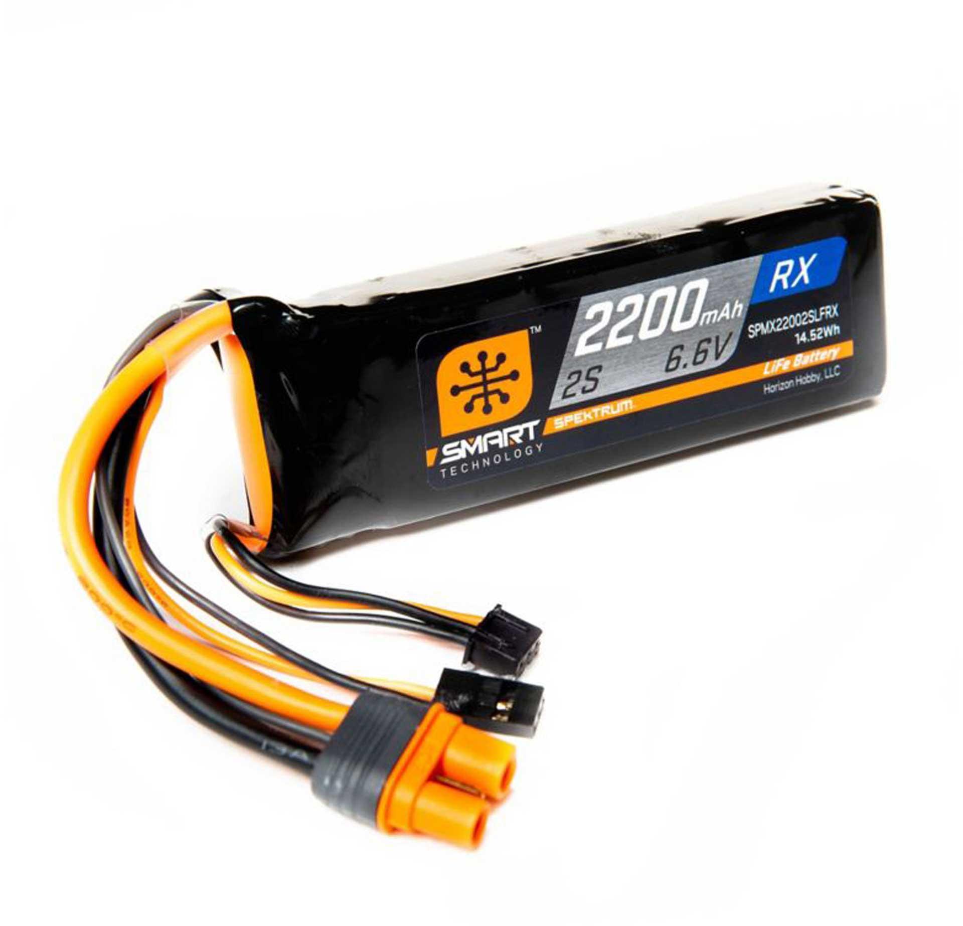 SPEKTRUM SMART LIFE RECEIVER PACK IC3 & SERVO CONNECTOR 2200MAH 2S 6,6V