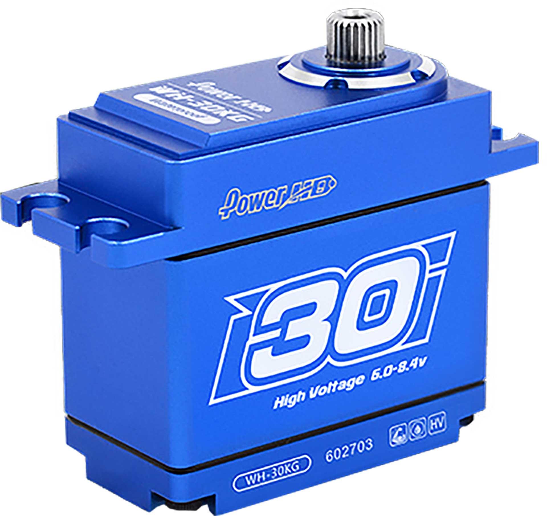 POWER HD WH-30 30kg HV wasserdicht Stahl/Aluminium Getriebe Coreless Motor Metallgehäuse doppelt kugelgelagert Digital Servo programmierbar
