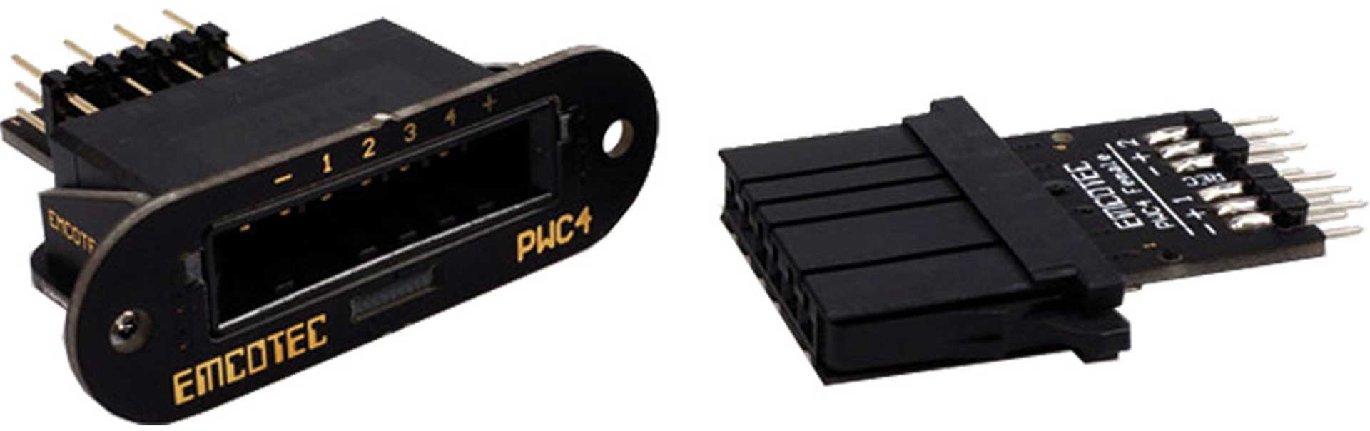 EMCOTEC POWER CONNECTION POUR AILES PWC4 POUR 4 SERVOS