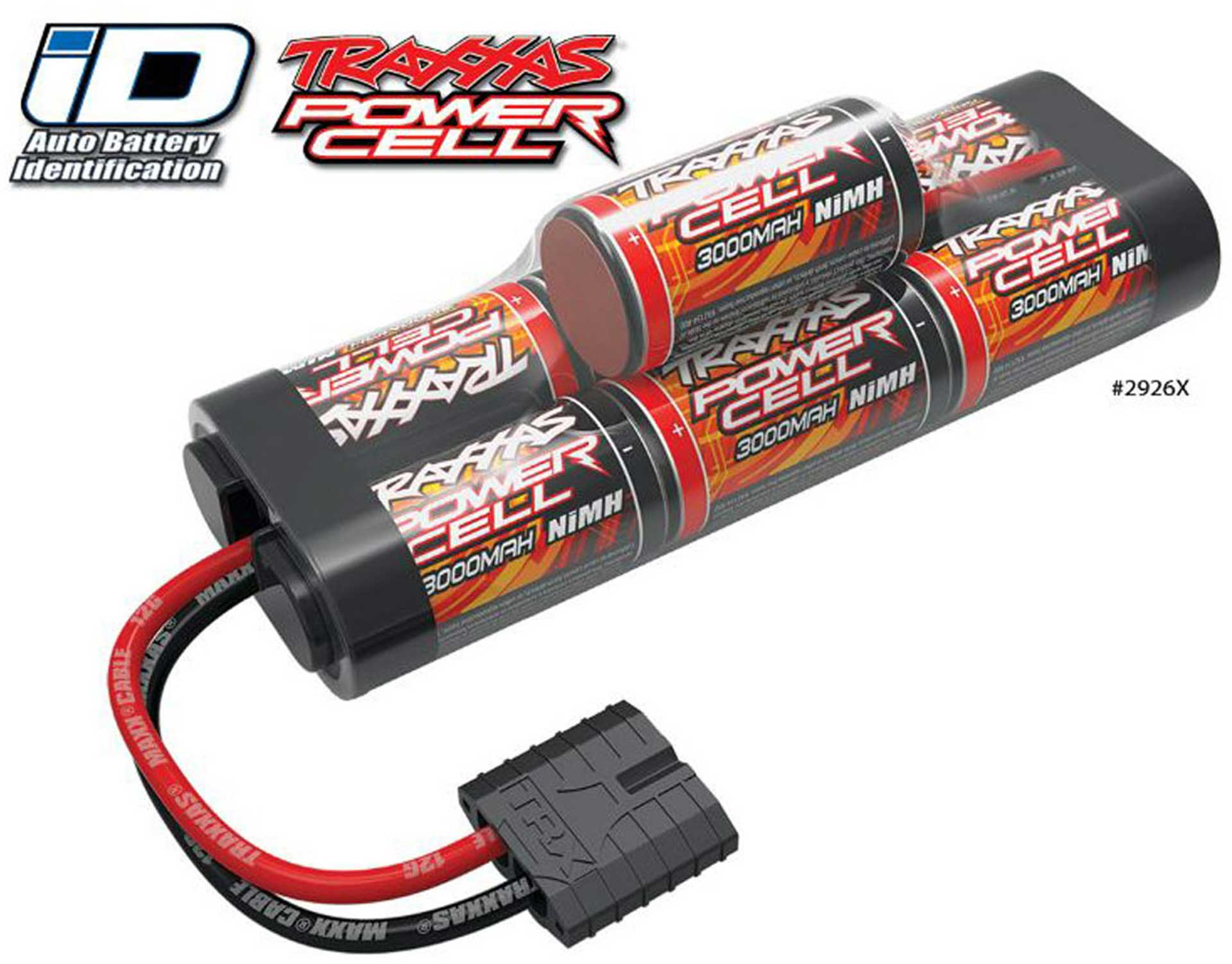 TRAXXAS POWER CELL BATTERY 3000MAH 8.4 VOLT NI-MH 7-CELL HUMP WITH ID-CONNECTOR