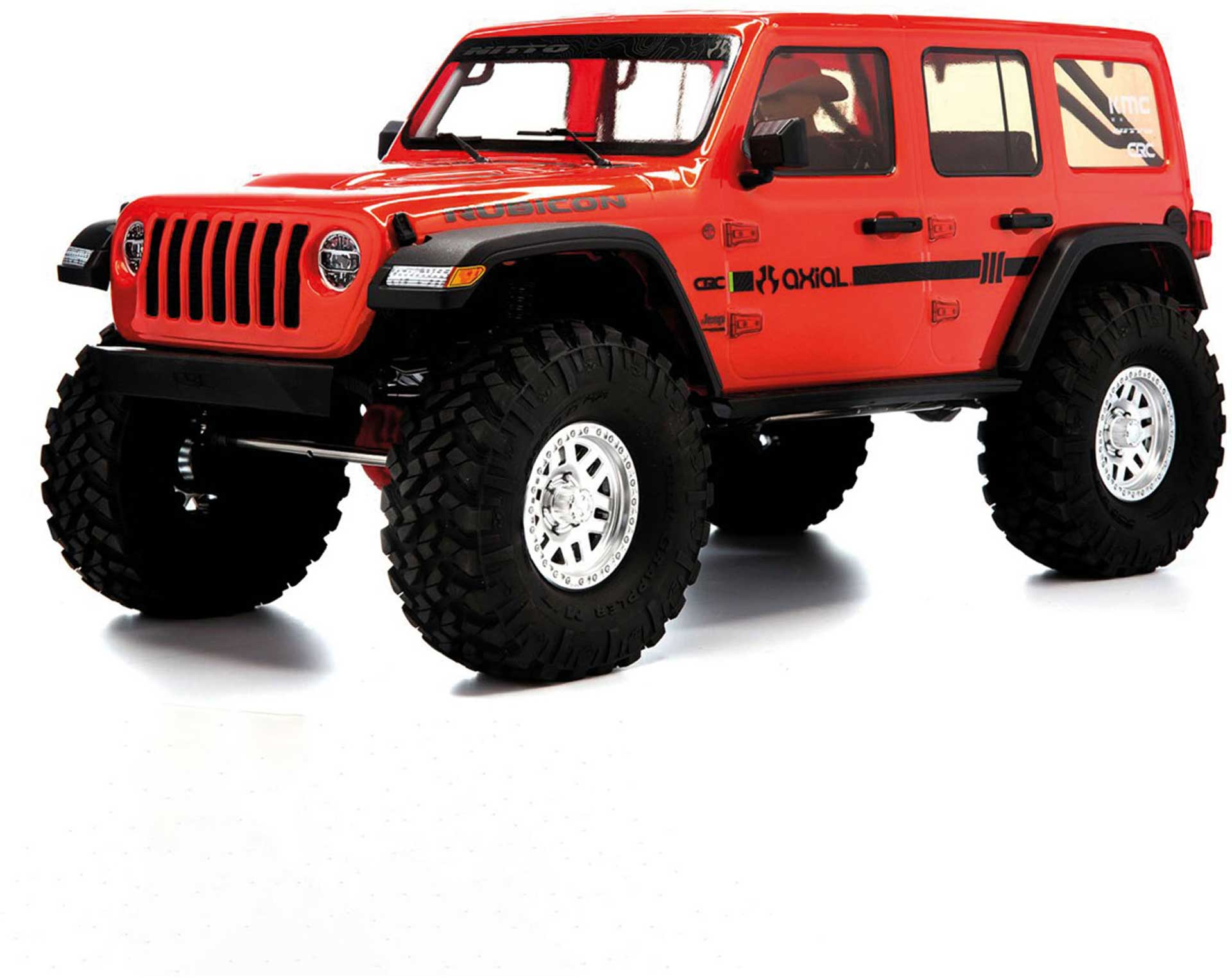 AXIAL SCX10III JEEP JLU Wrangler 1/10 RTR red with portal axles
