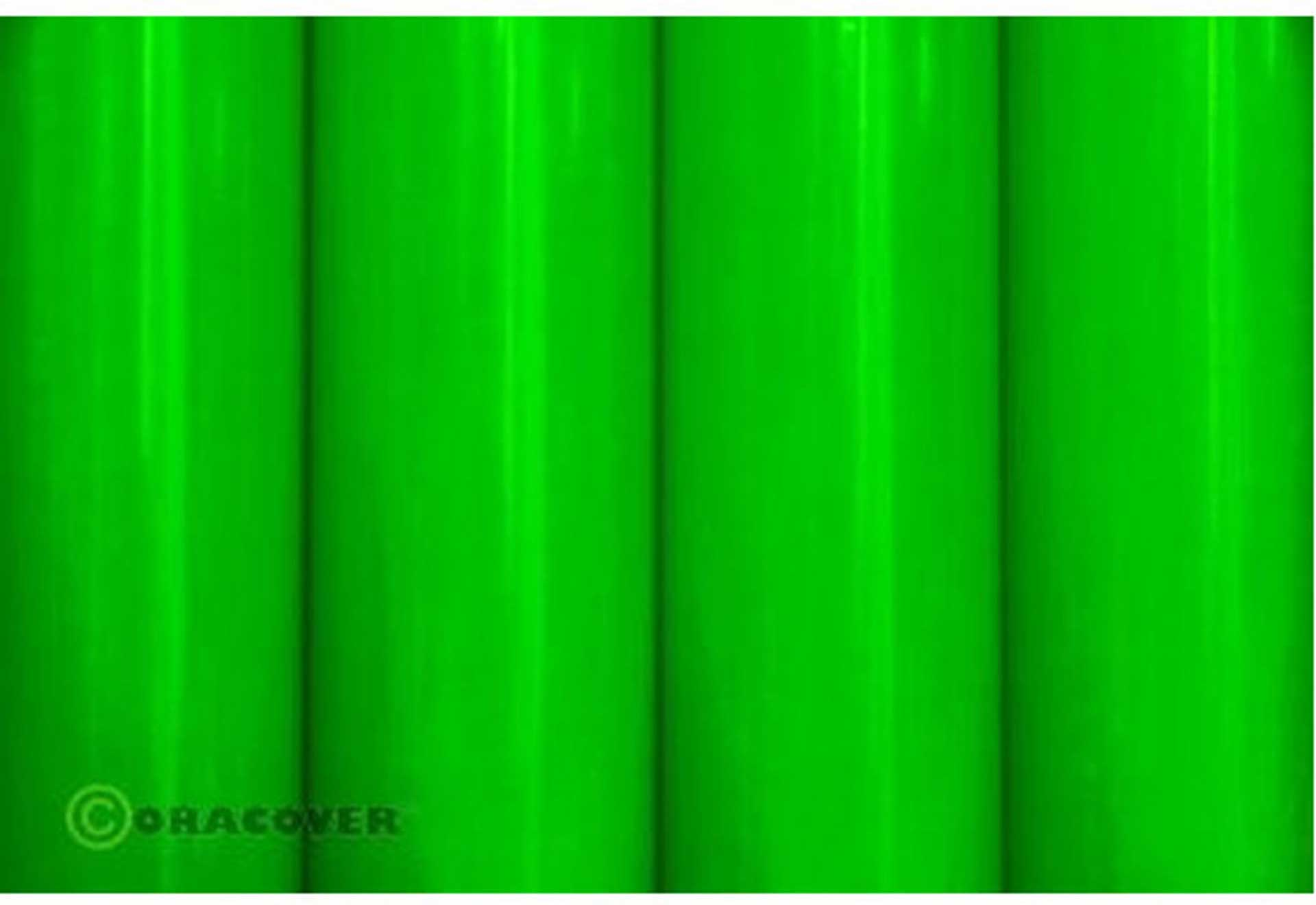 ORACOVER Iron-on film GREEN FLUORESCENCE 1 Meter # 41