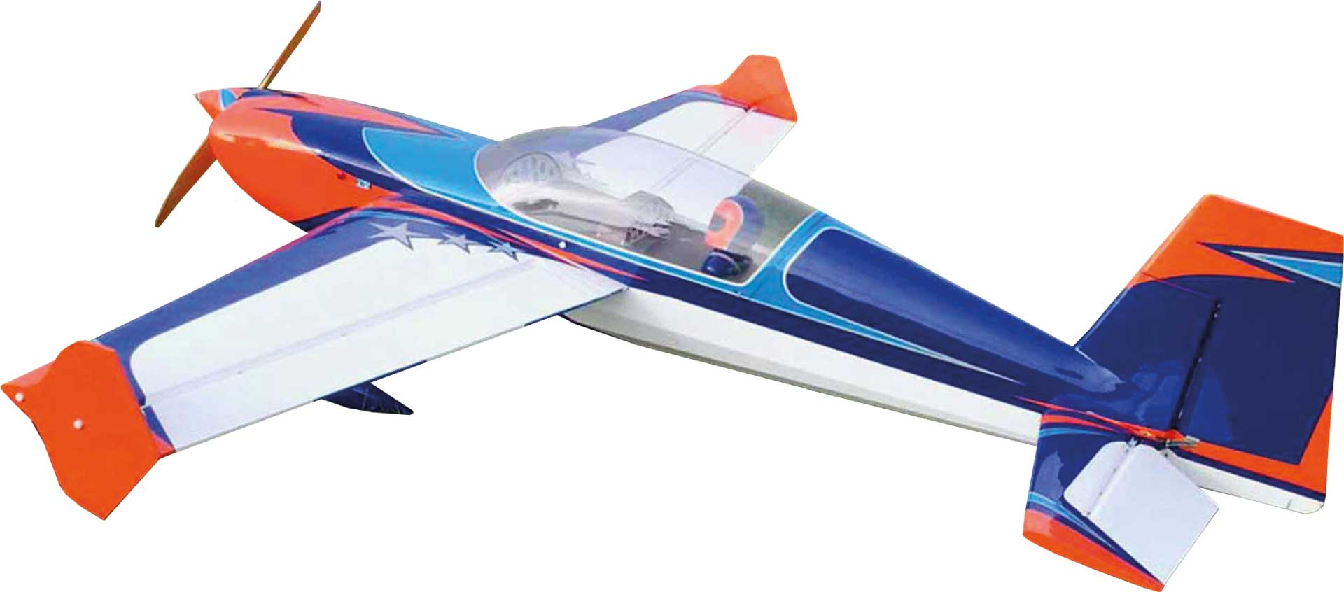 "EXTREMEFLIGHT-RC EXTRA 300 85"" ORANGE / BLAU / WEISS ARF VERBRENNER/ELEKTRO VERSION"