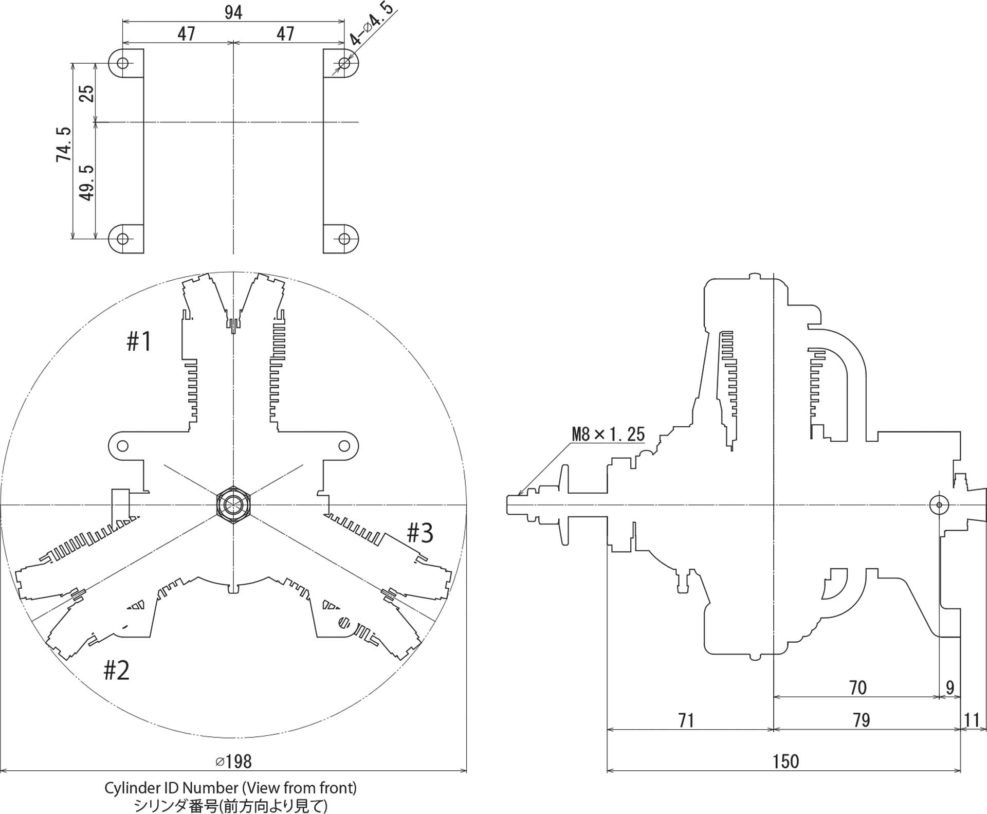 SAITO FG-33R3 BENZIN STERNMOTOR 3-ZYLINDER