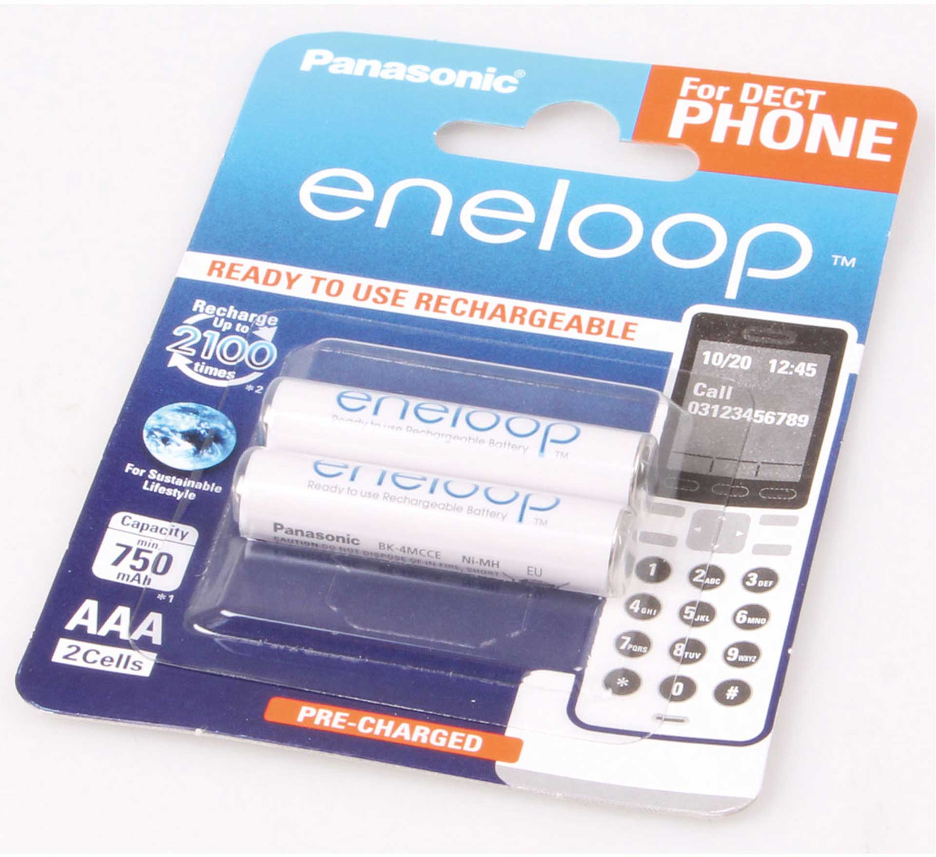 PANASONIC ENELOOP MICRO AAA 800 MAH 1,2 VOLT DECT 2Stk.