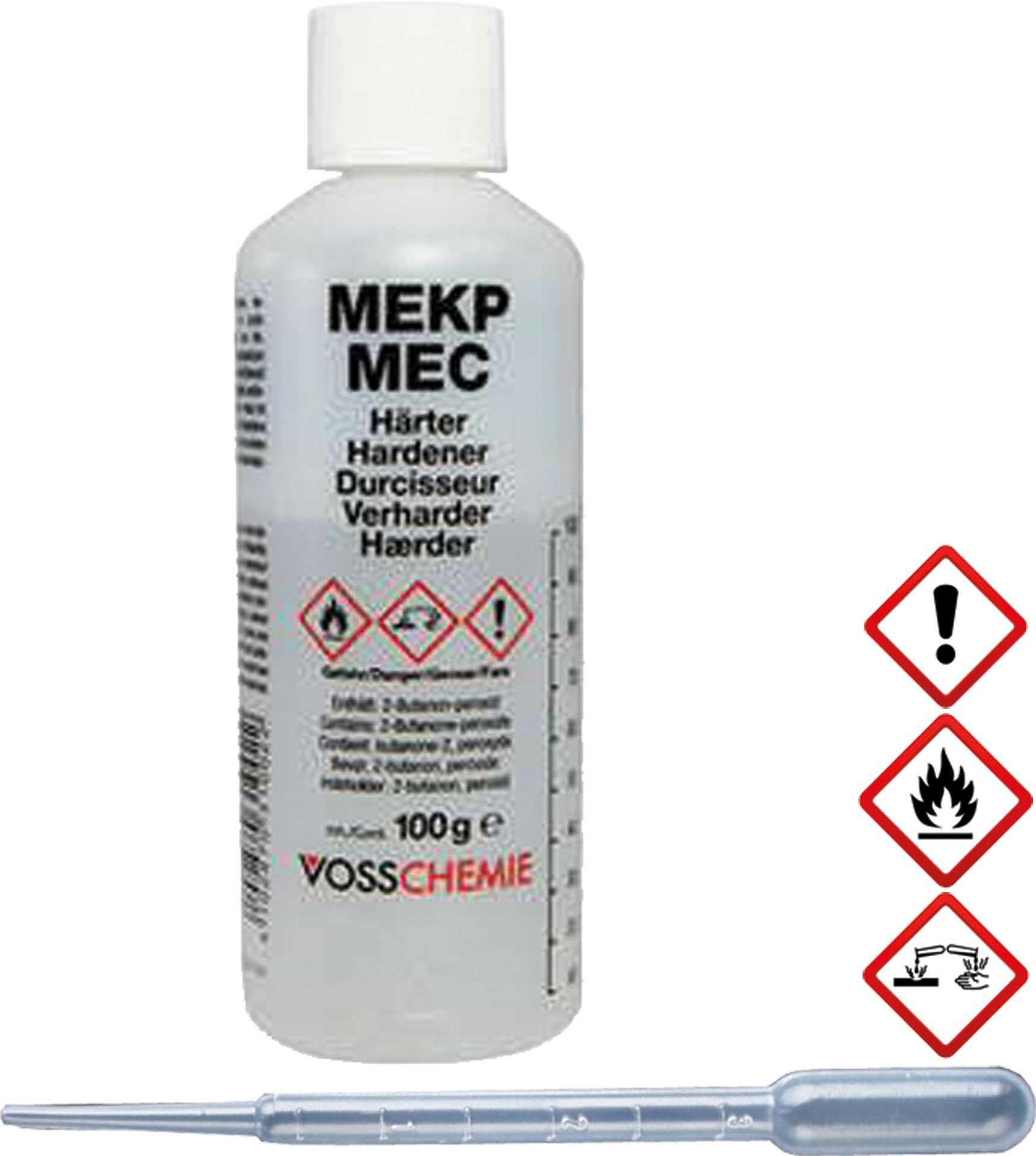R&G VOSS MEKP-Härter, Flasche/ 100 g (mit Dosierpipette)