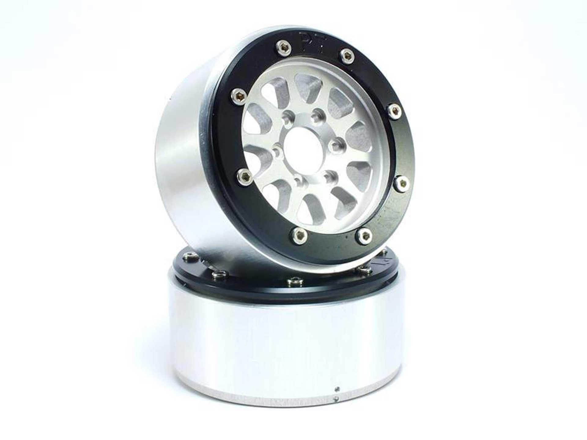 Metsafil Beadlock Wheels GEAR silber/schwarz 1.9 (2 St.) ohne Radnabe