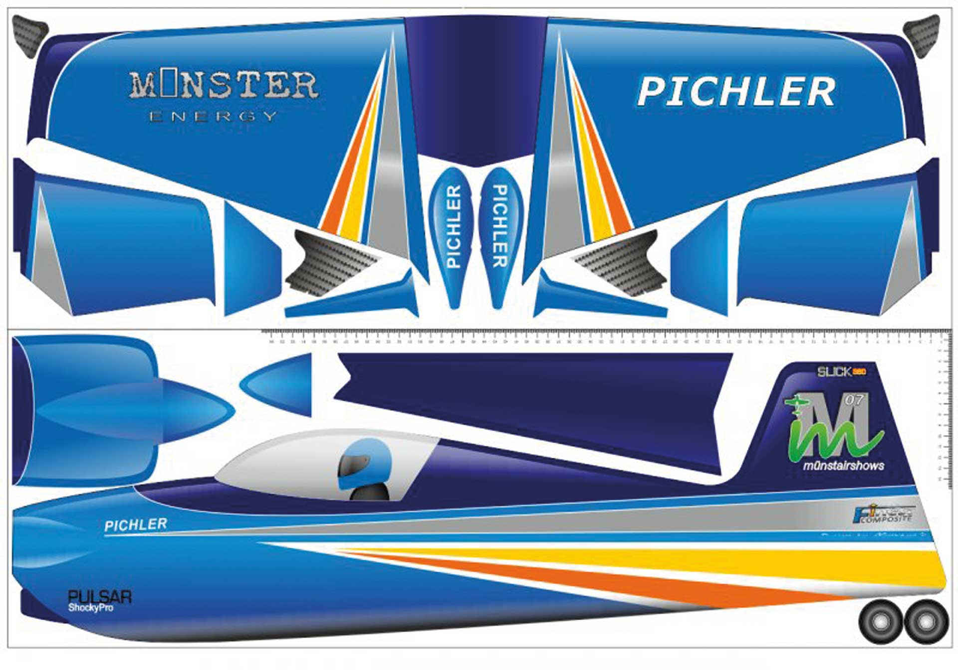 PICHLER Slick 360 (blue) / 840 mm made of Super Board
