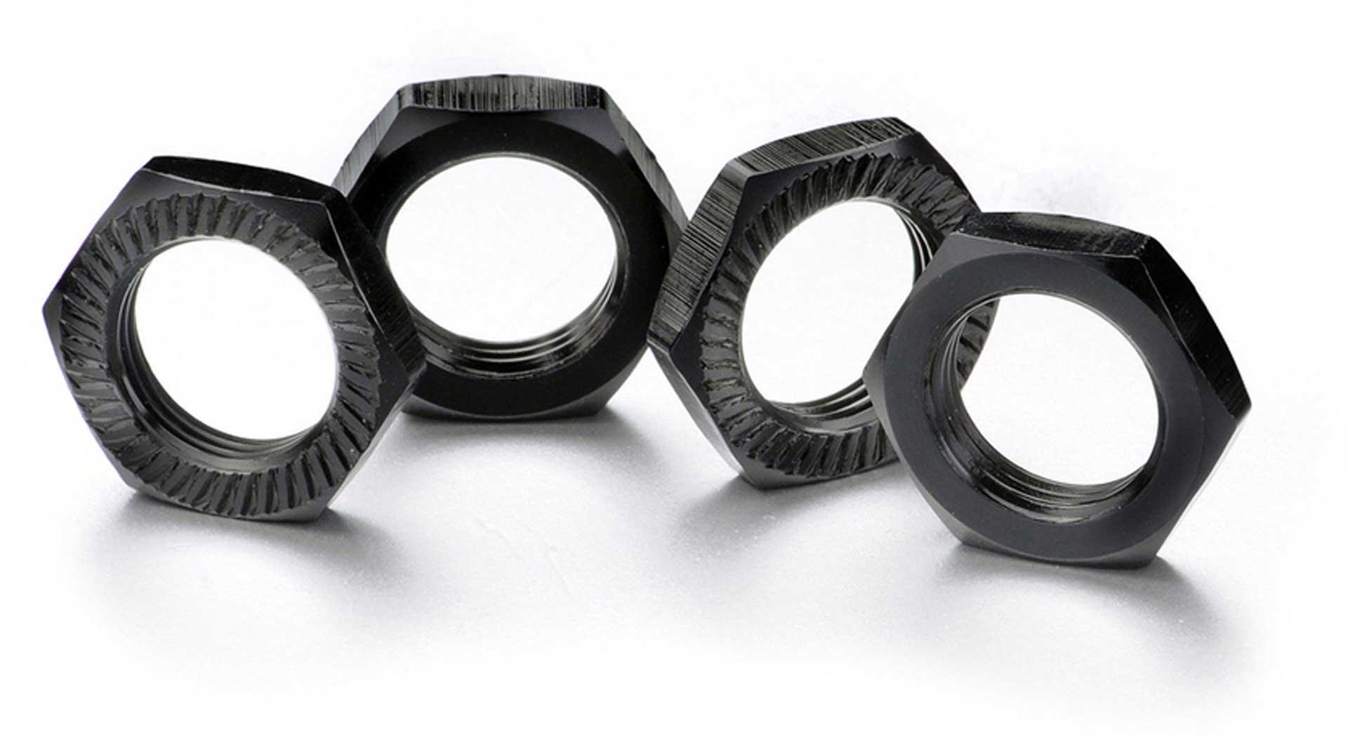 ABSIMA Wheel nut self-locking 17mm black (4)