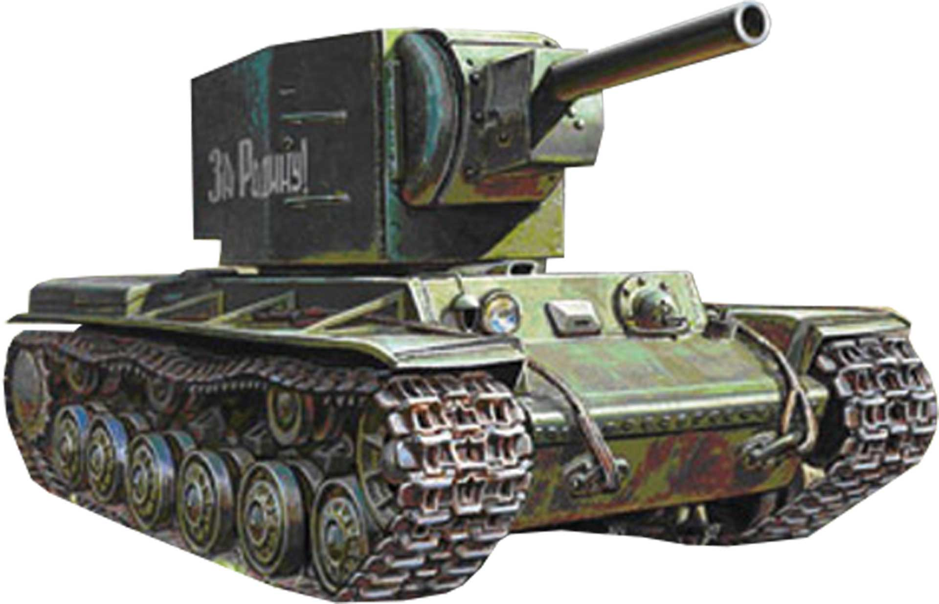 ZVEZDA 1:35 WWII RUS. PANZER KV-2 GIGANT