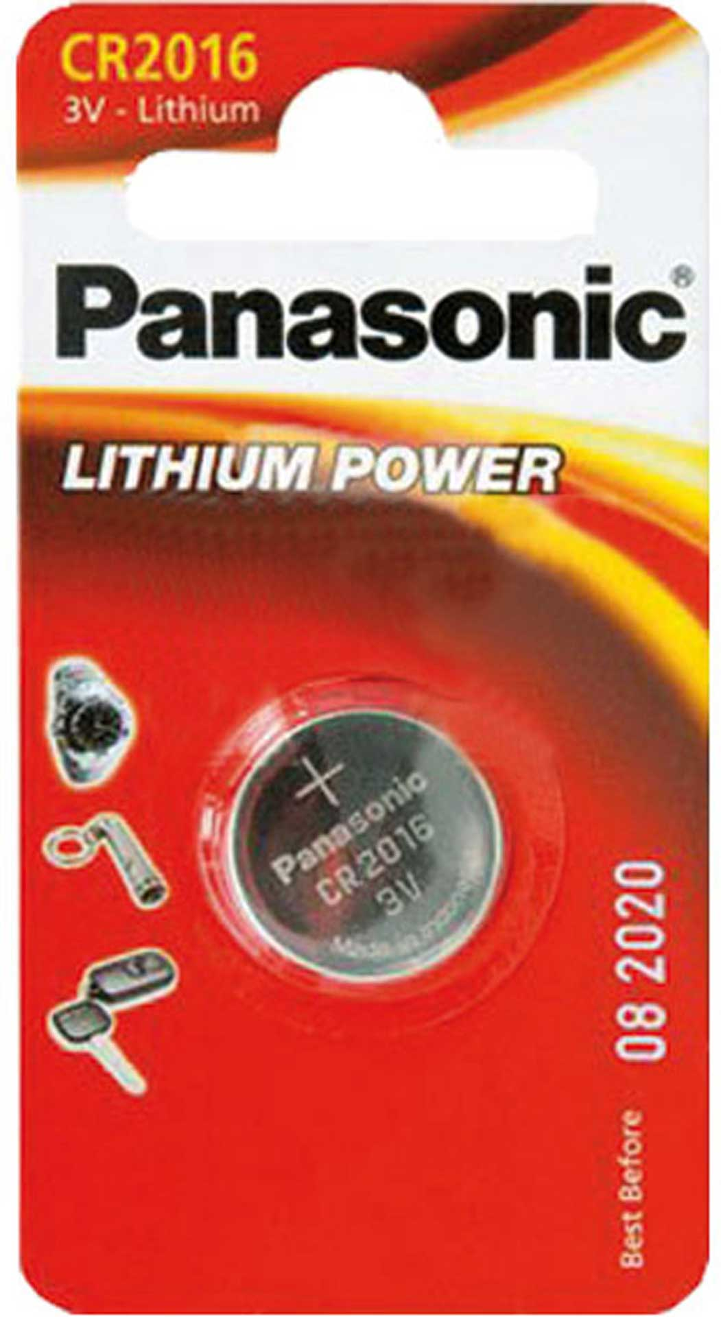 PANASONIC LITHIUM BUTTON CELL BATTERY CR2016 3V 1 PCS