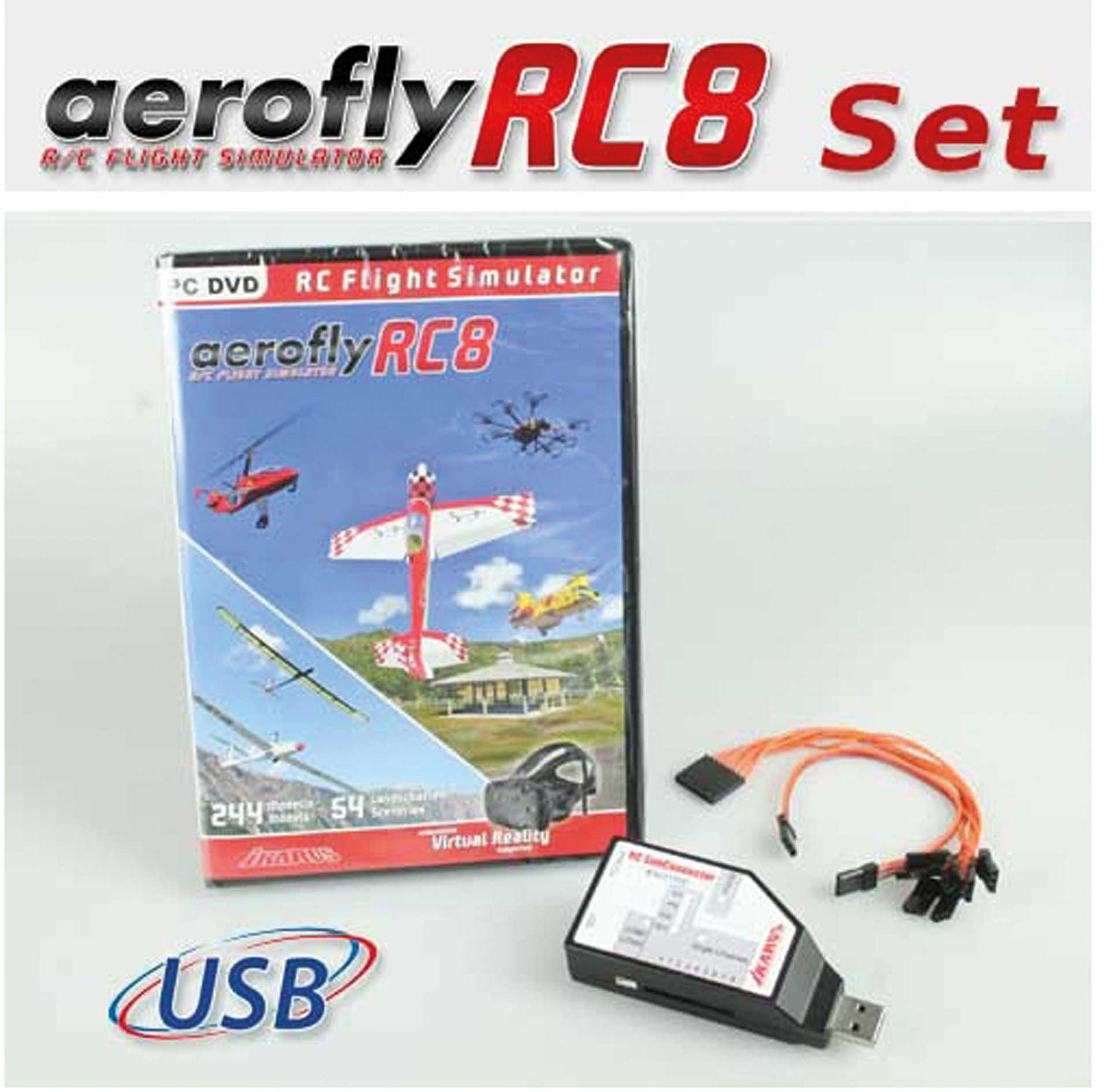 IKARUS AeroFly RC8 DVD inkl. RC SimConnector