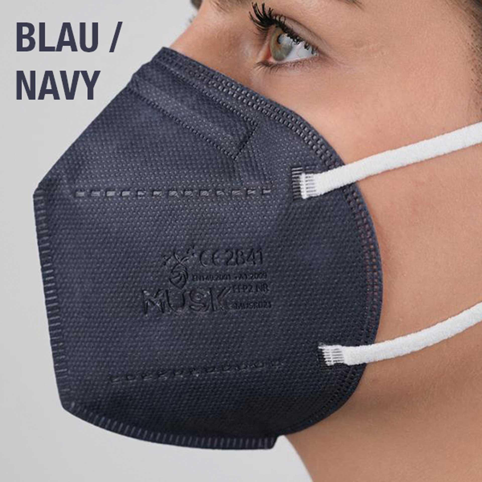 R&G Atemschutzmaske BLAU, FFP2 NR, Packung/ 1 St.